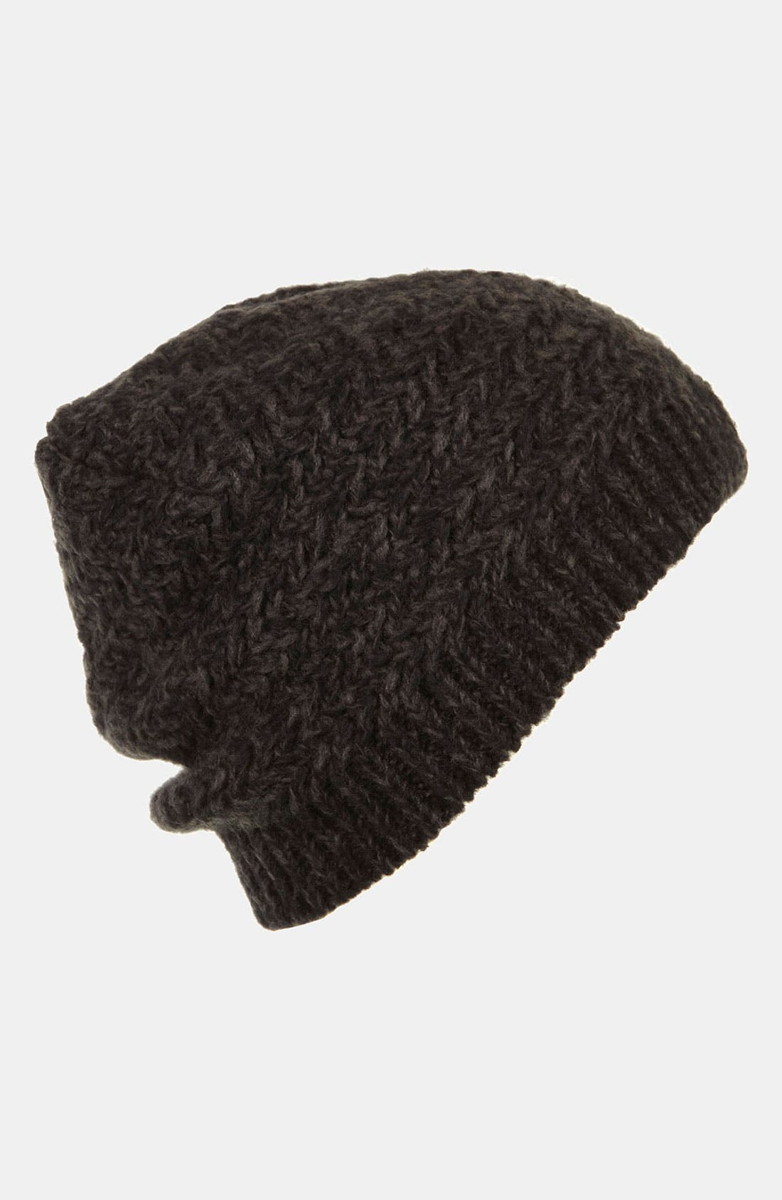 Main Image - Topshop Two Tone Zigzag Beanie