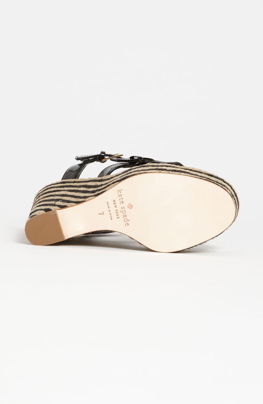 Alternate Image 4  - kate spade new york 'lucie' espadrille sandal