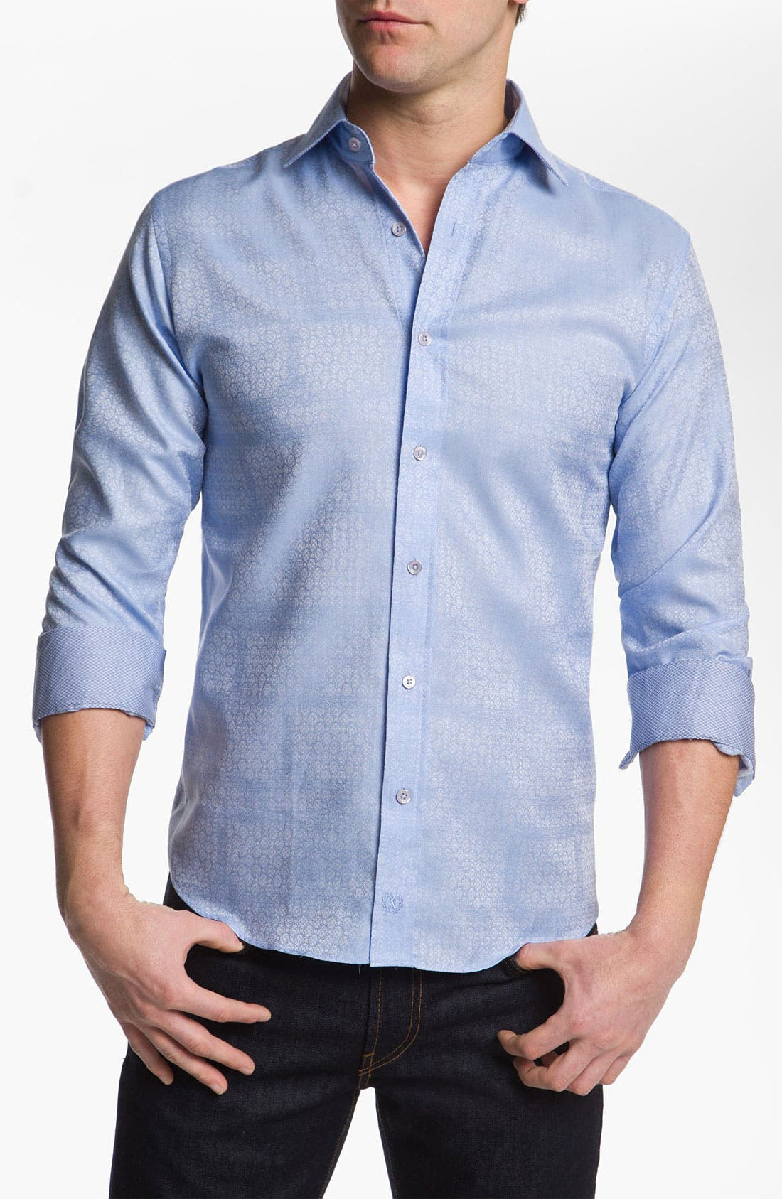 Alternate Image 1 Selected - Bugatchi Uomo Classic Fit Sport Shirt