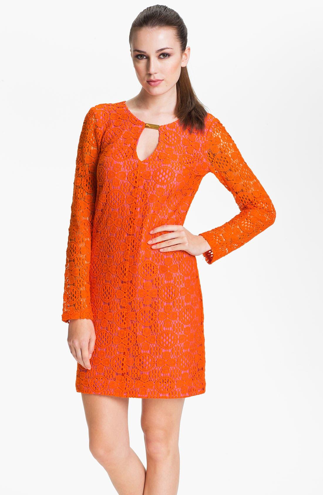 Alternate Image 1 Selected - Trina Turk 'Crandon' Keyhole Detail Lace Shift Dress