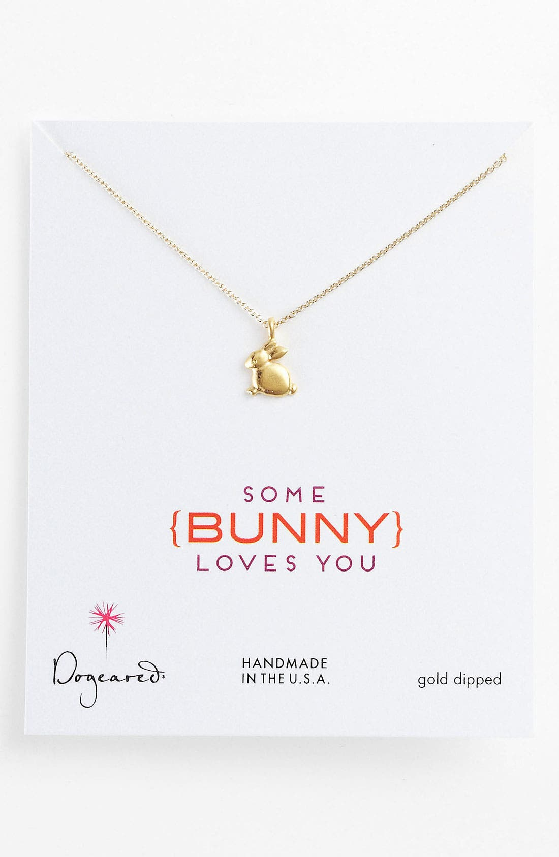Alternate Image 1 Selected - Dogeared 'Some Bunny Loves You' Pendant Necklace