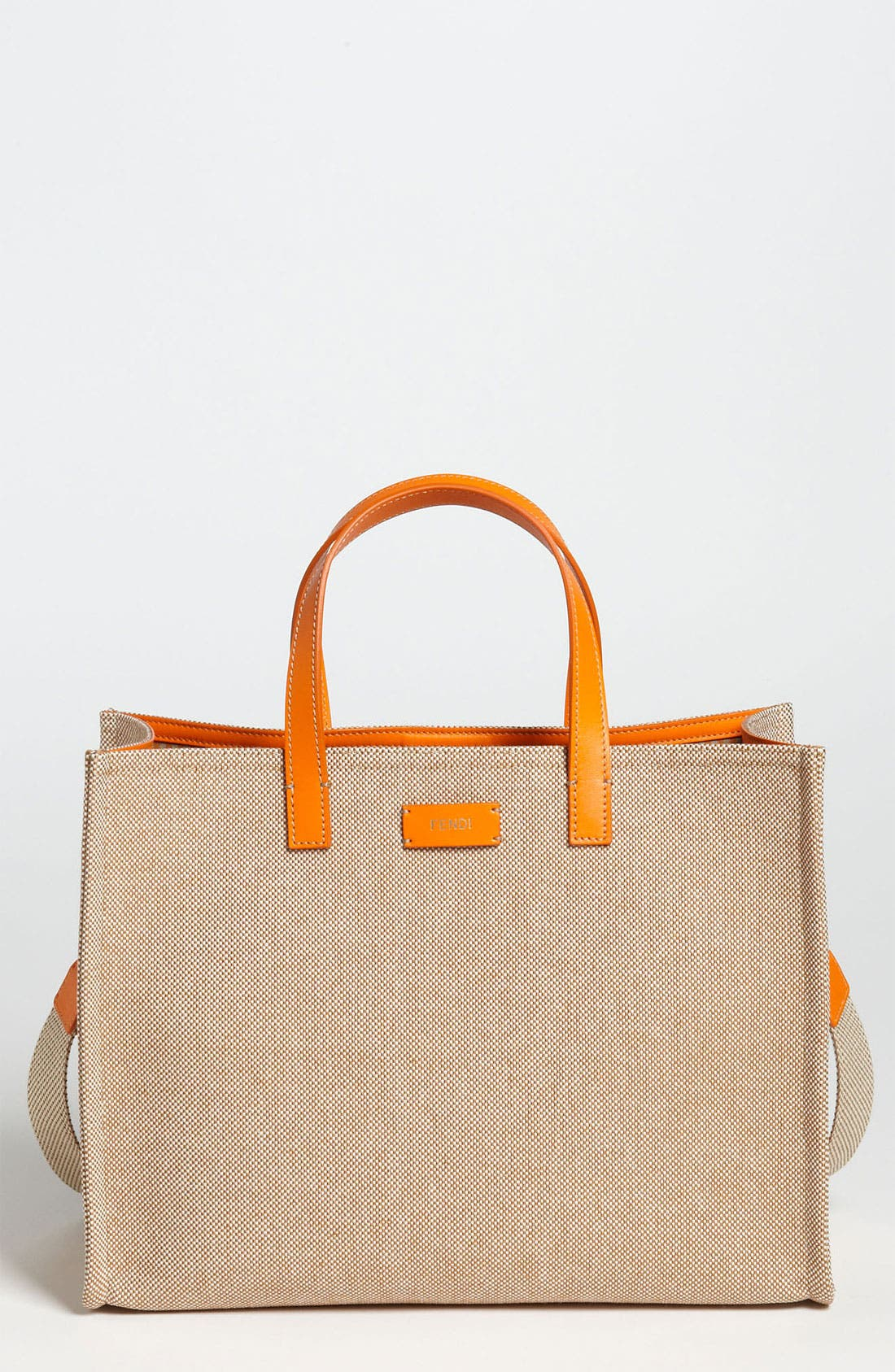Main Image - Fendi 'Small Karl' Canvas Tote