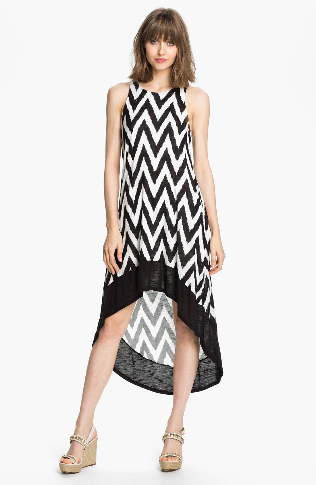 Main Image - Ella Moss 'Mazzy' Zigzag Print High/Low Dress
