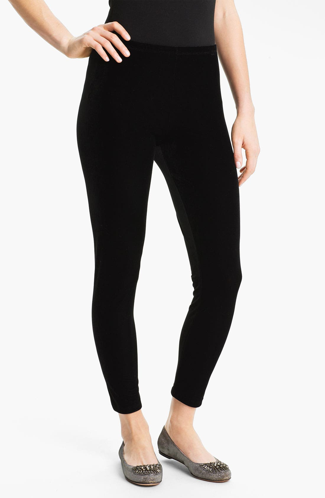 Main Image - Eileen Fisher Ankle Leggings (Online Exclusive)