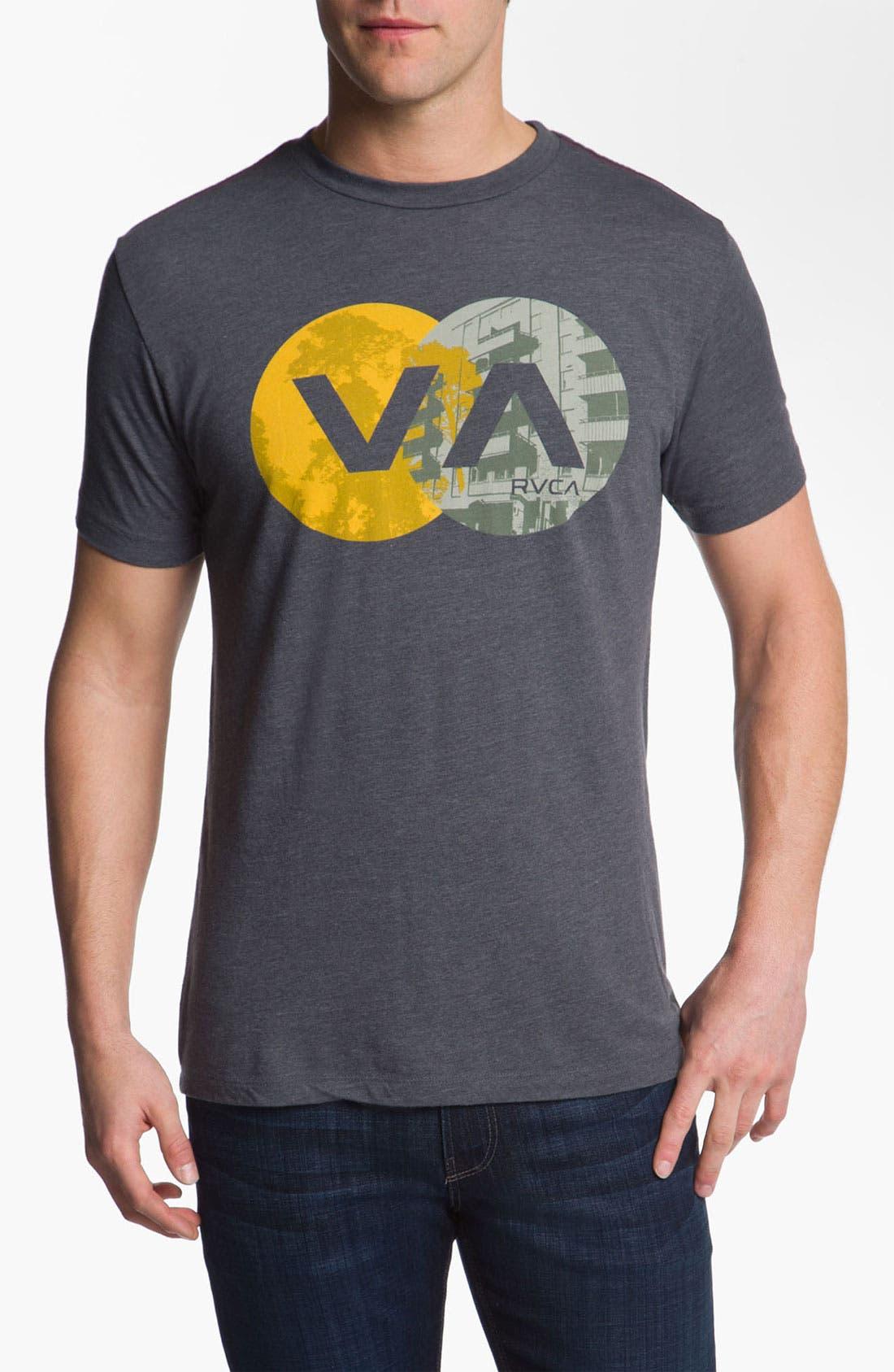Alternate Image 1 Selected - RVCA 'VA Circles' Vintage Wash T-Shirt