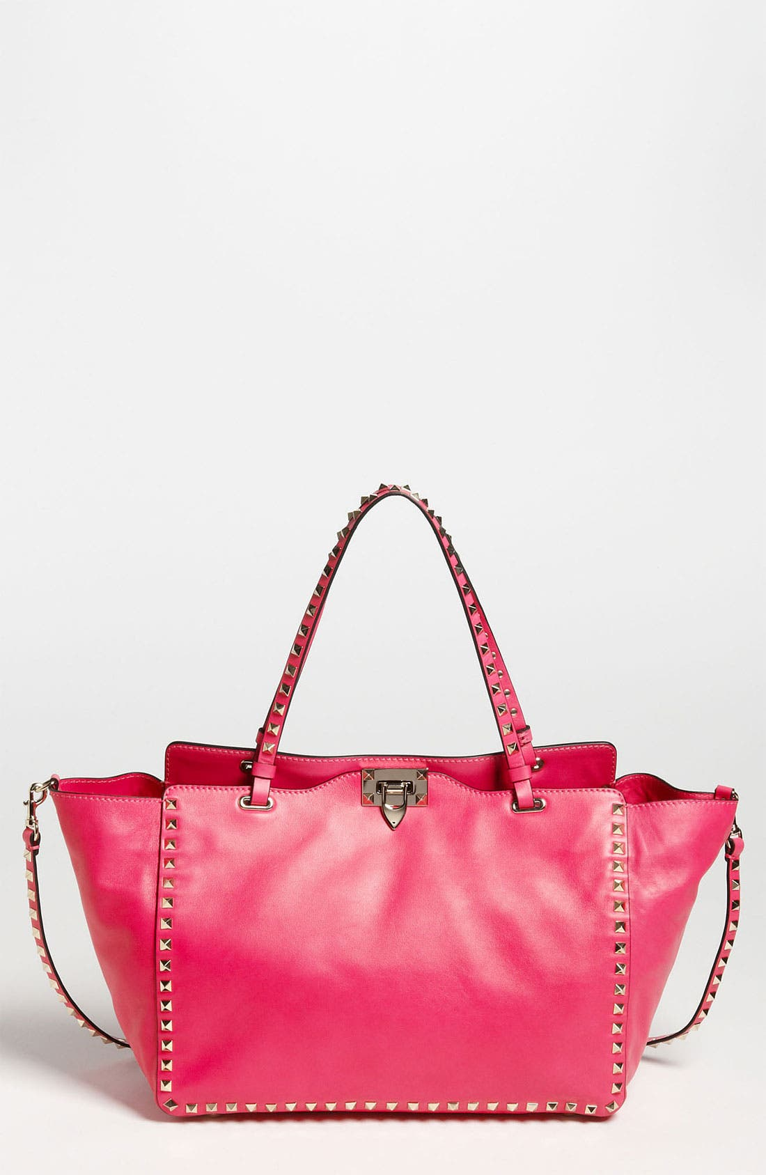Main Image - Valentino 'Rockstud - Medium' Double Handle Leather Tote