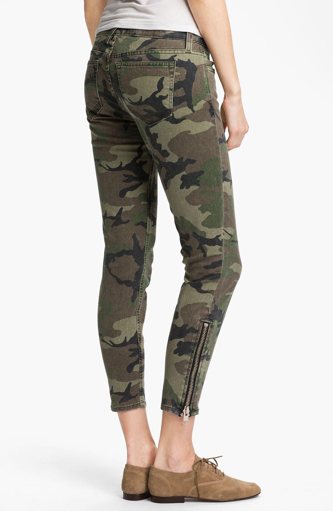 Alternate Image 2  - TEXTILE Elizabeth and James 'Cooper' Skinny Camo Print Jeans