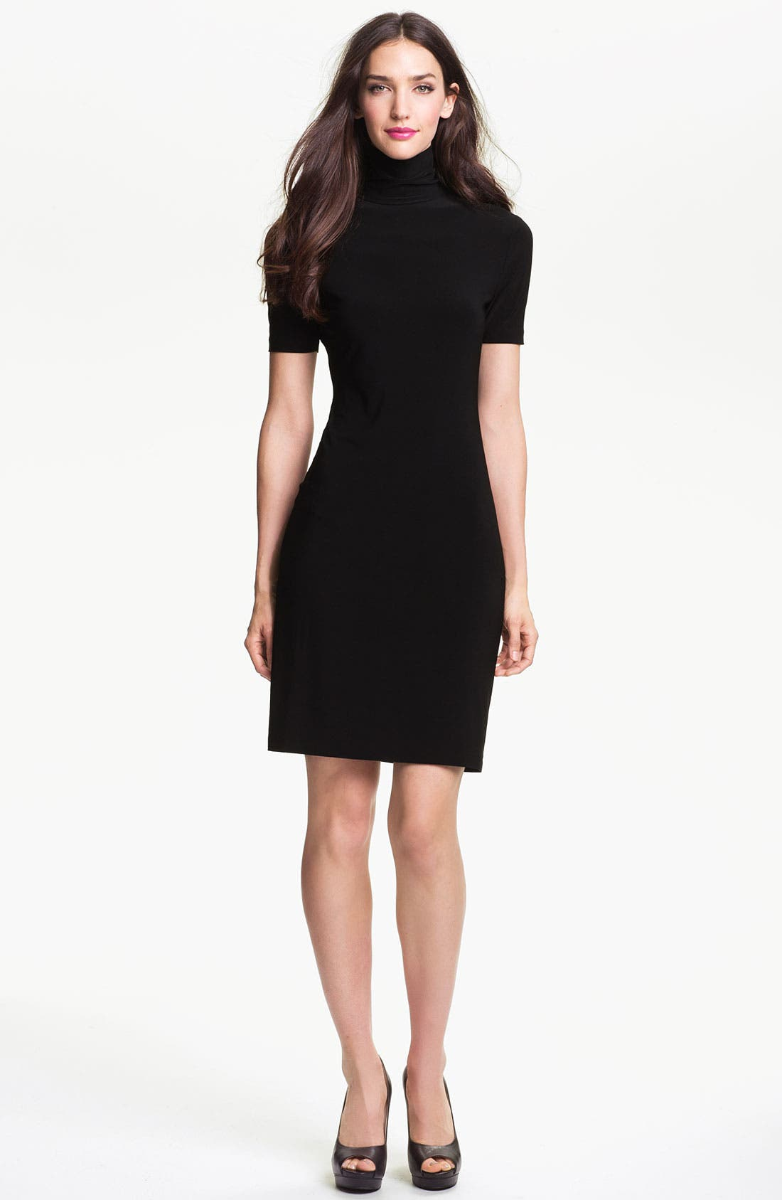 Main Image - KAMALIKULTURE Short Sleeve Turtleneck Dress