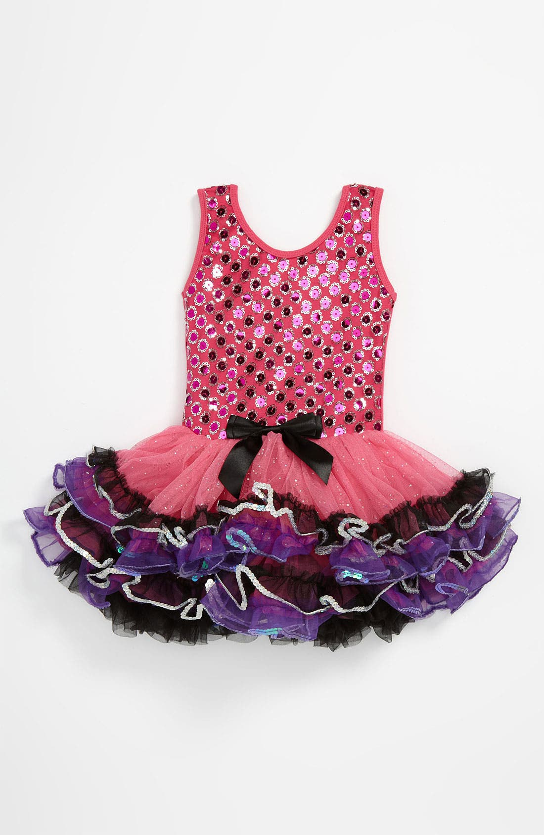 Main Image - Popatu Sparkle Petticoat Dress (Toddler)