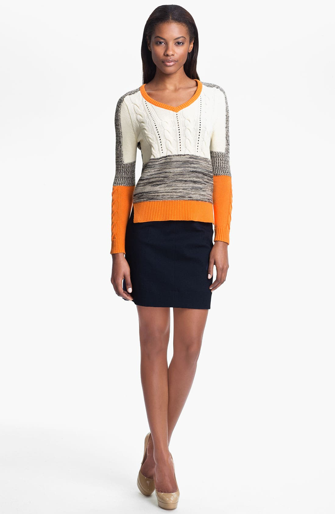 Alternate Image 1 Selected - Carven Patchwork Sweater