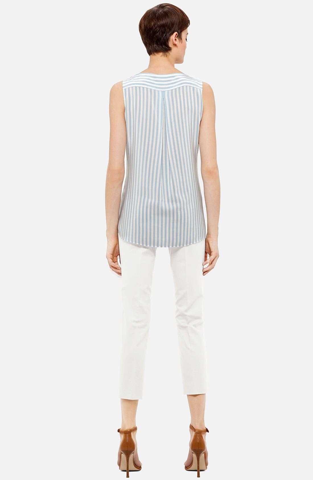 Alternate Image 3  - Akris punto Stripe Silk Blouse