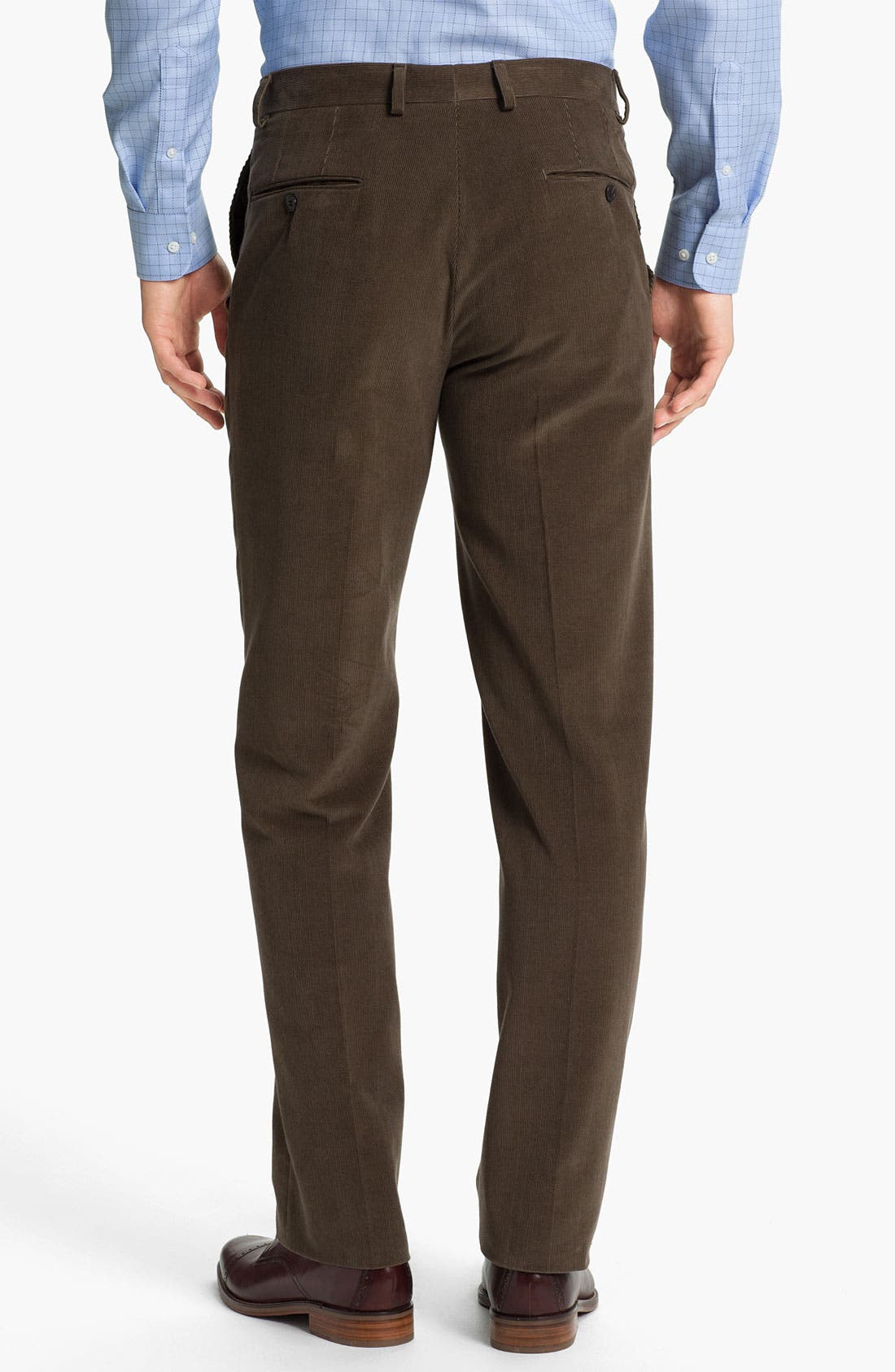 Alternate Image 2  - Samuelsohn Flat Front Corduroy Trousers