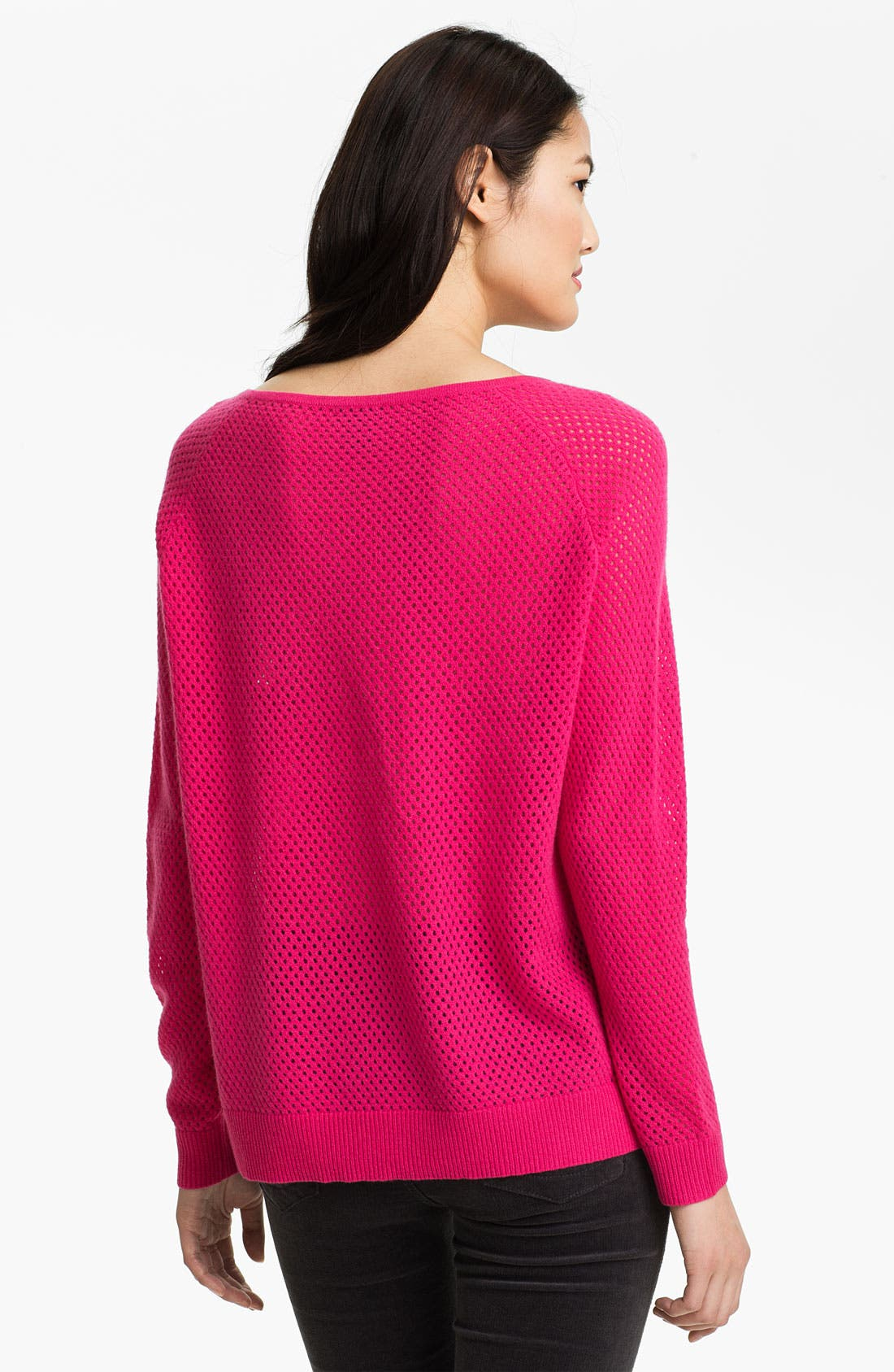 Alternate Image 2  - Only Mine Open Stitch Sleeve Cashmere Sweater