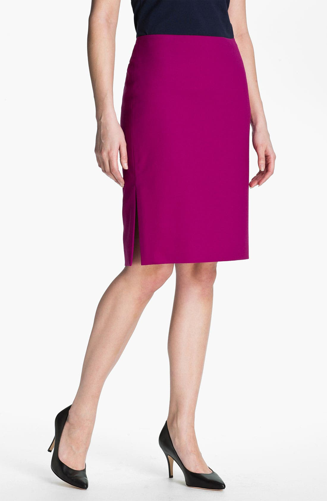 Alternate Image 1 Selected - Anne Klein Crepe Pencil Skirt