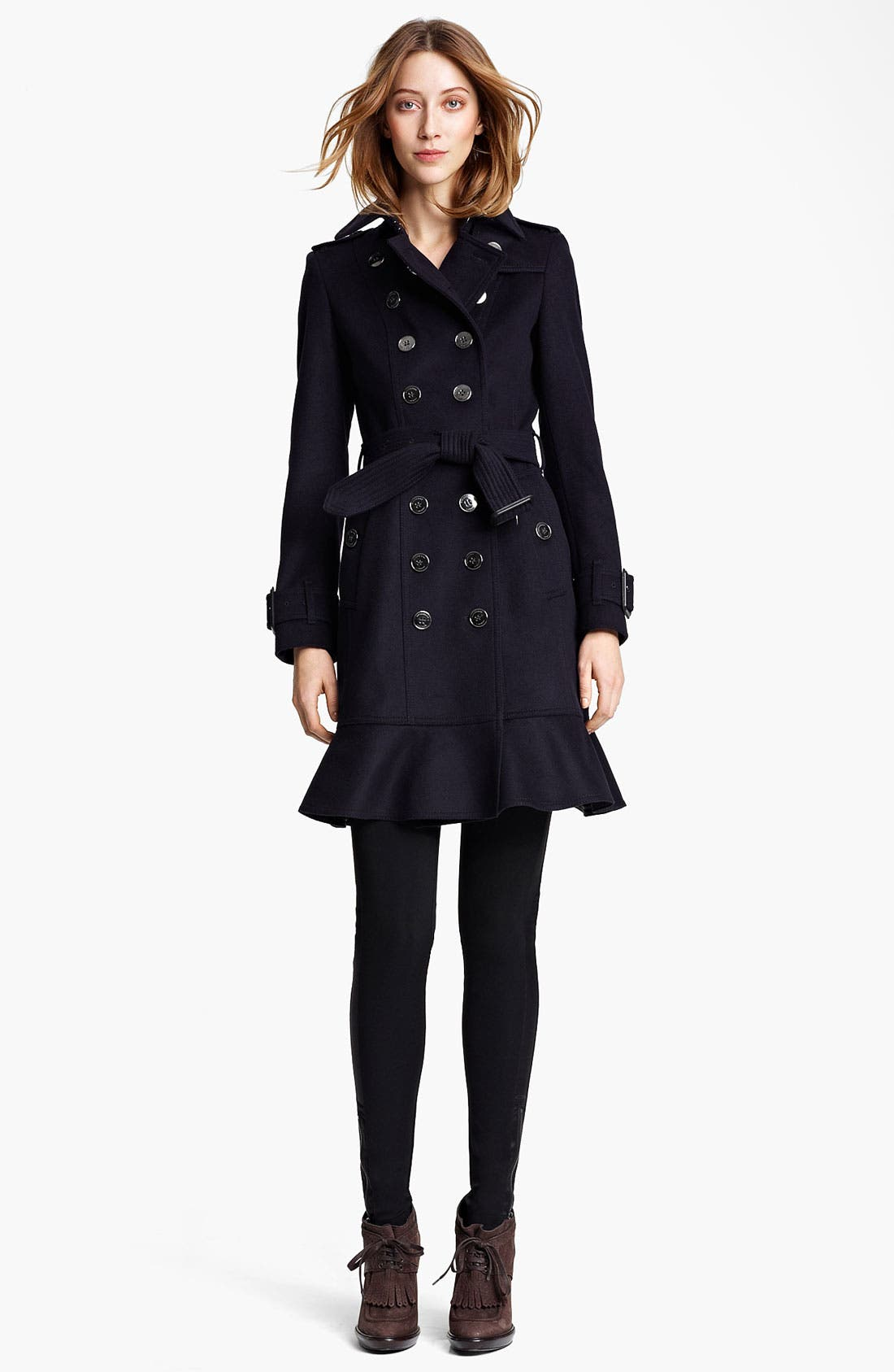 Alternate Image 1 Selected - Burberry London Double Breasted Wool & Cashmere Trench Coat