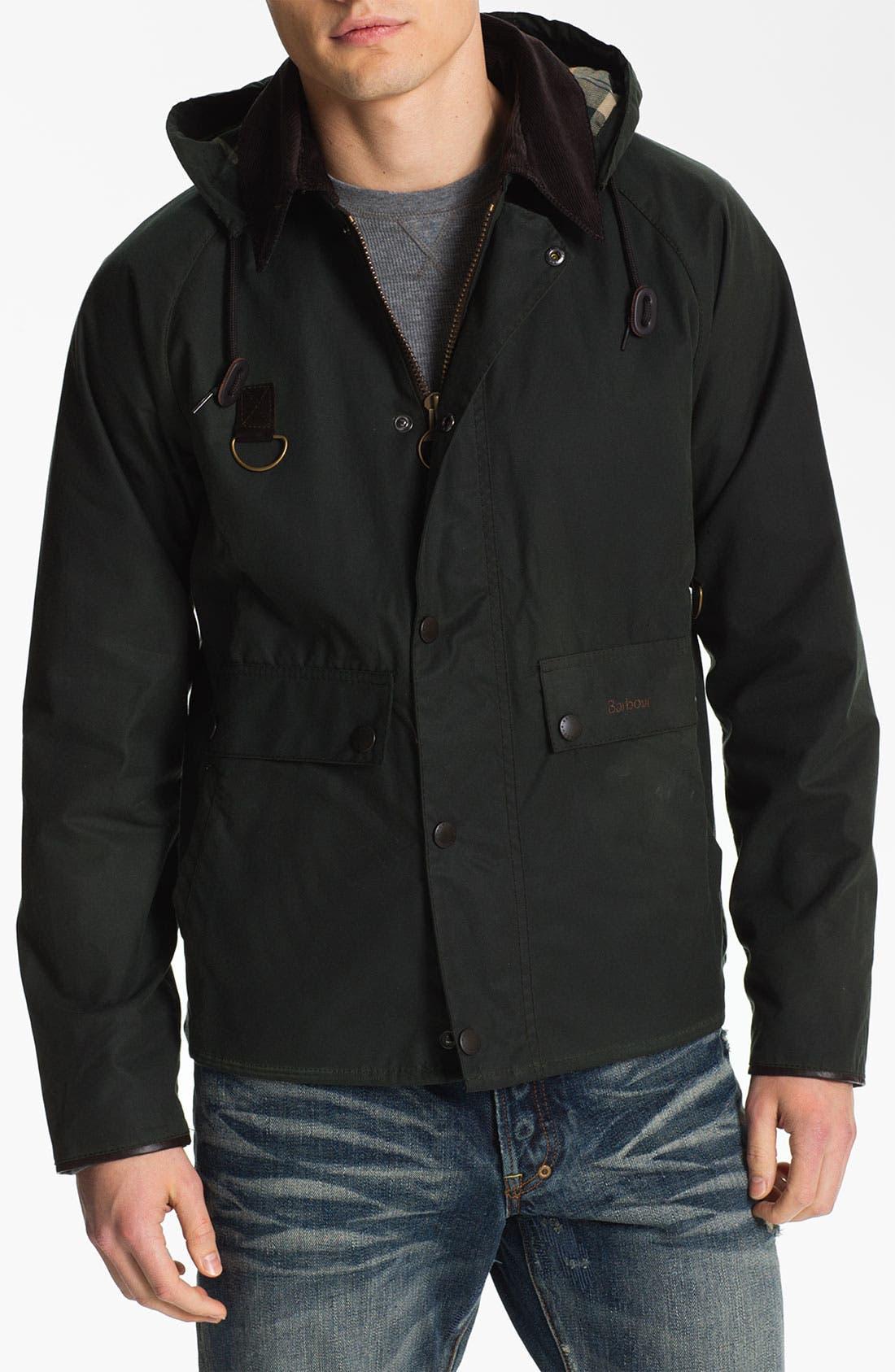 Alternate Image 1 Selected - Barbour 'Standen' Hooded Jacket