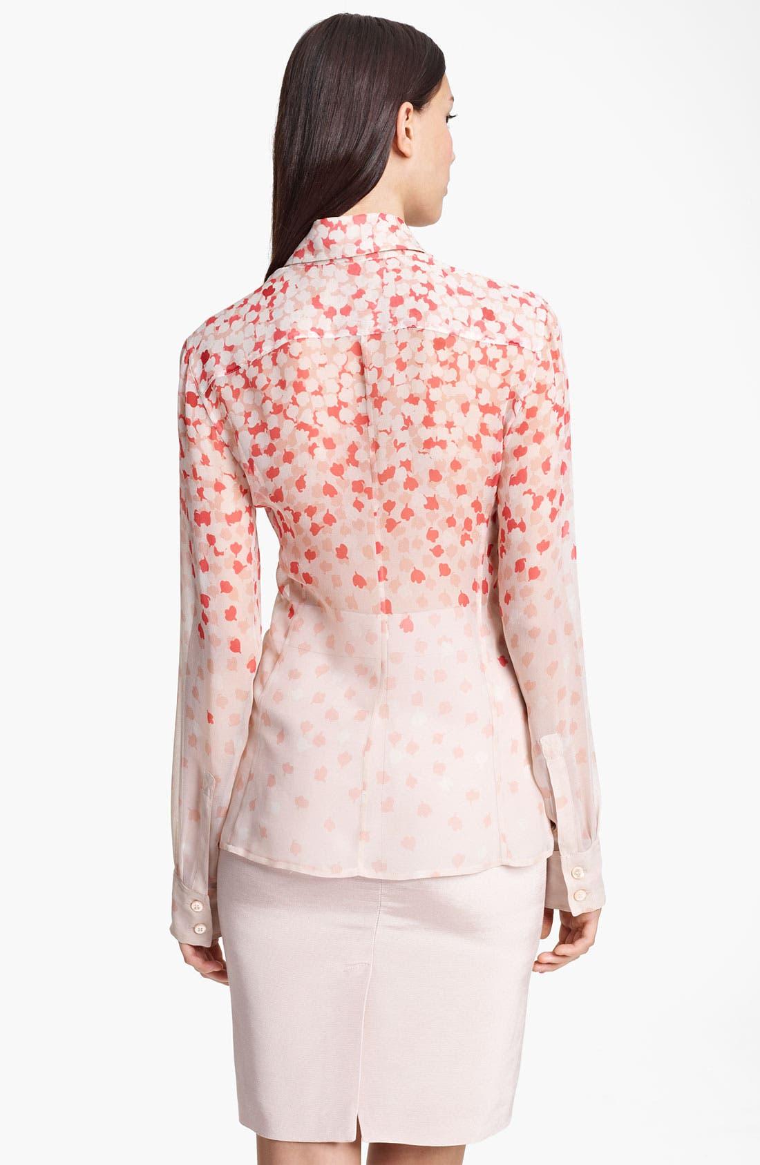 Alternate Image 2  - Armani Collezioni Print Silk Blouse
