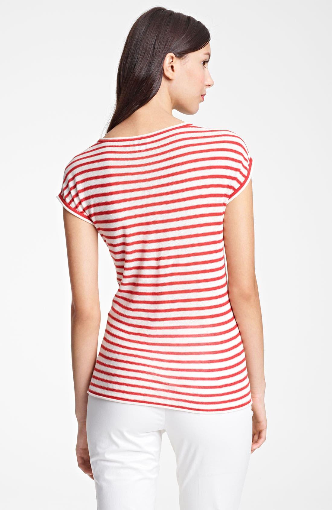Alternate Image 2  - Armani Collezioni Stripe Knit Top