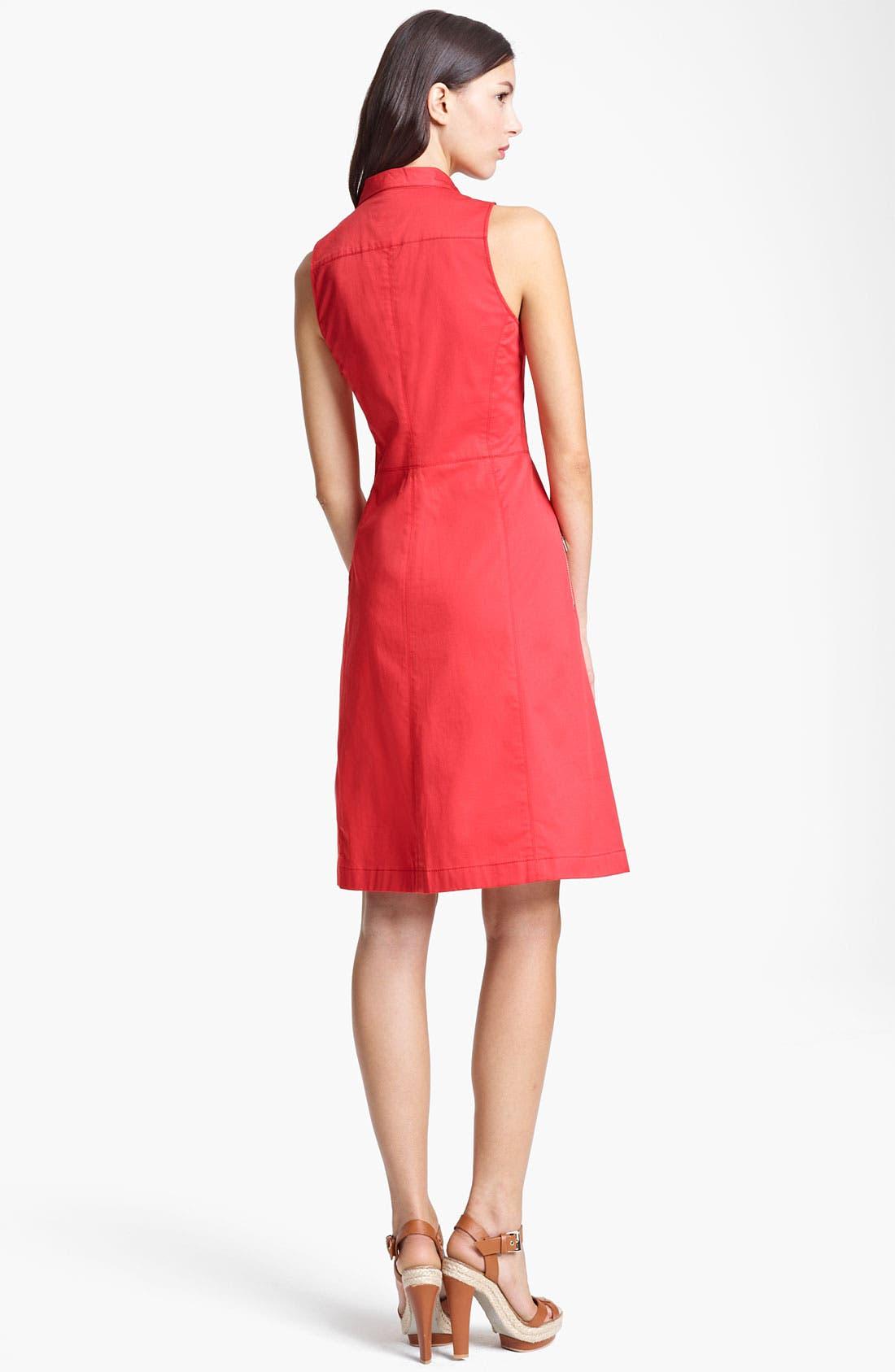 Alternate Image 2  - Armani Collezioni Zip Front A-Line Dress