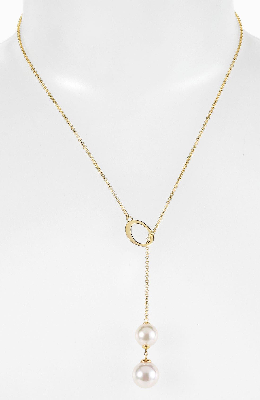 Main Image - Majorica Pearl Lariat Necklace