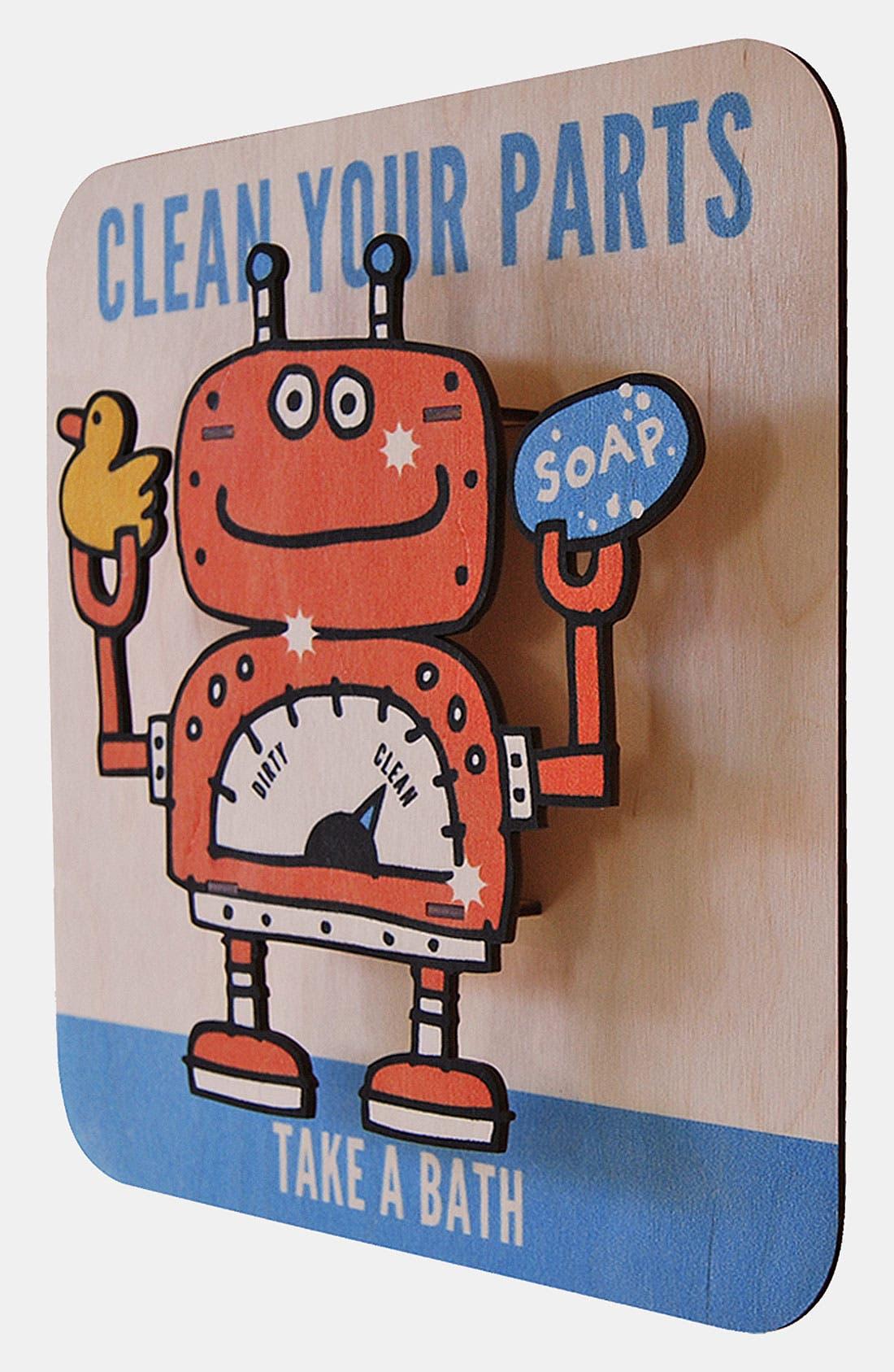 Alternate Image 2  - Modern Moose 'Cleanbot' Wall Art