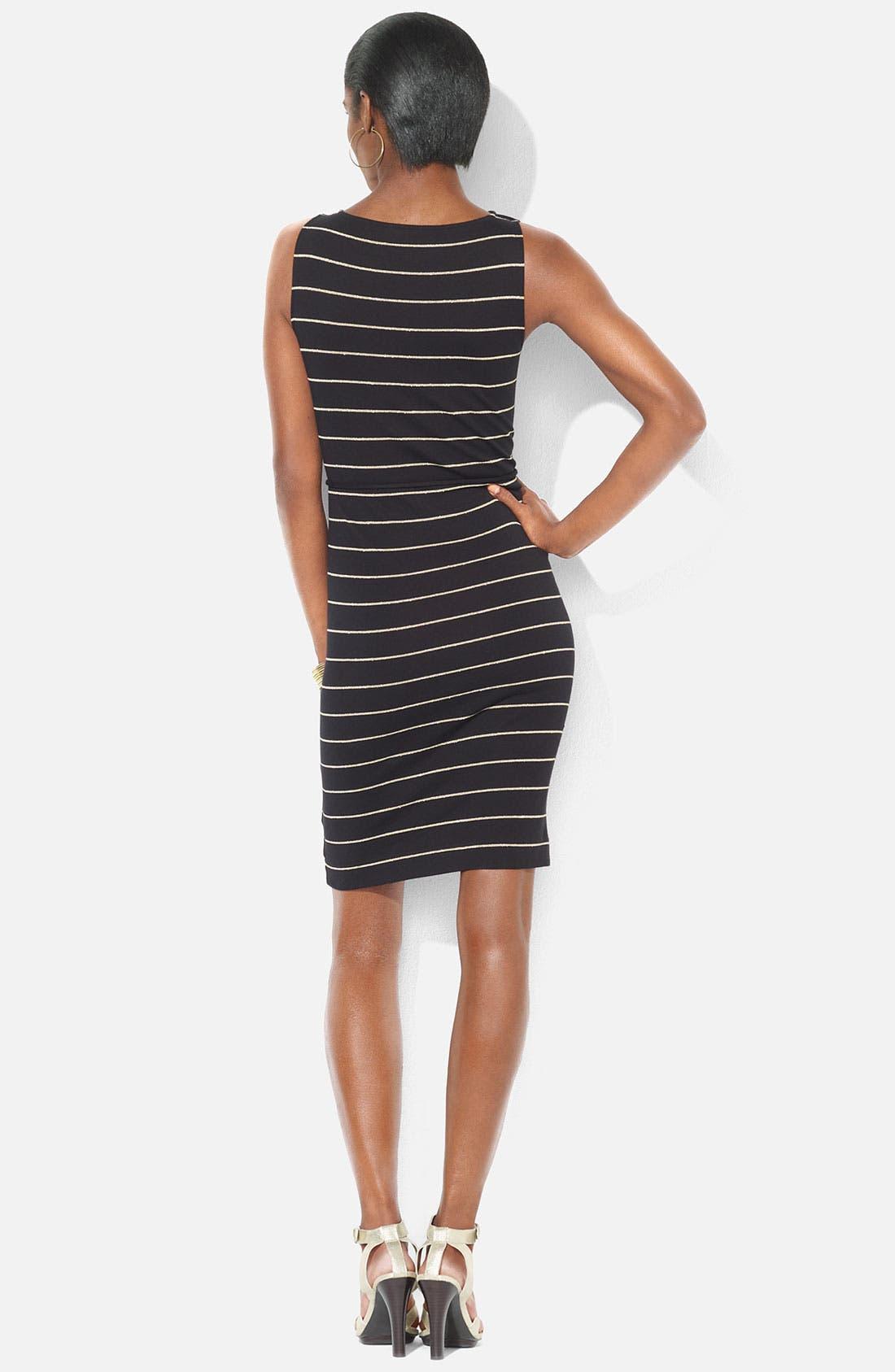 Alternate Image 2  - Lauren Ralph Lauren Bateau Neck Stripe Dress (Petite)