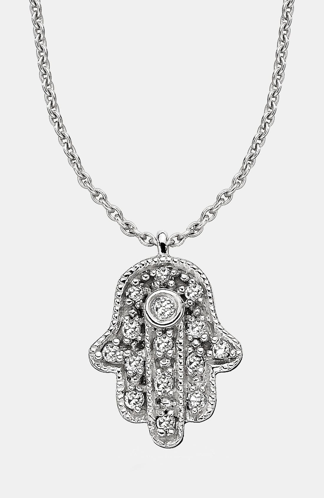 Main Image - Whitney Stern Hamsa Pendant Necklace