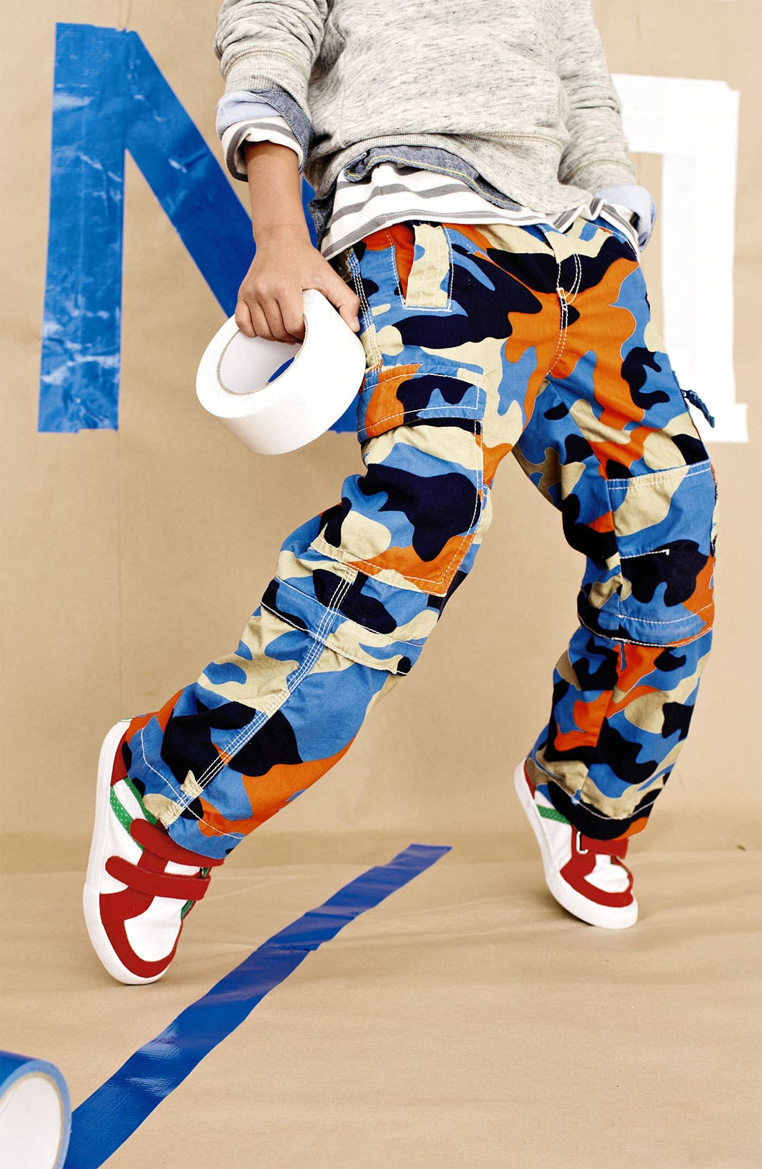 Alternate Image 2  - Mini Boden Convertible Cargo Pants (Toddler, Little Boys & Big Boys)