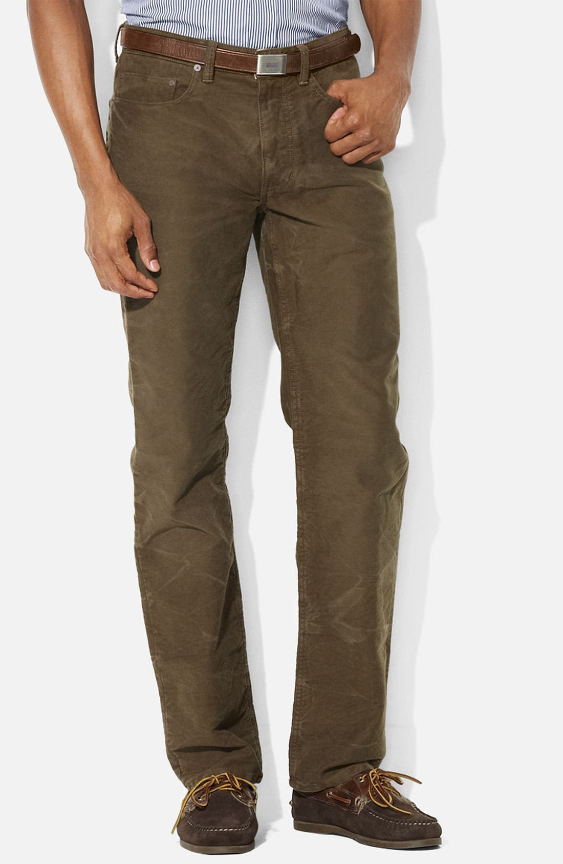 Alternate Image 1 Selected - Polo Ralph Lauren Straight Leg Moleskin Cotton Pants