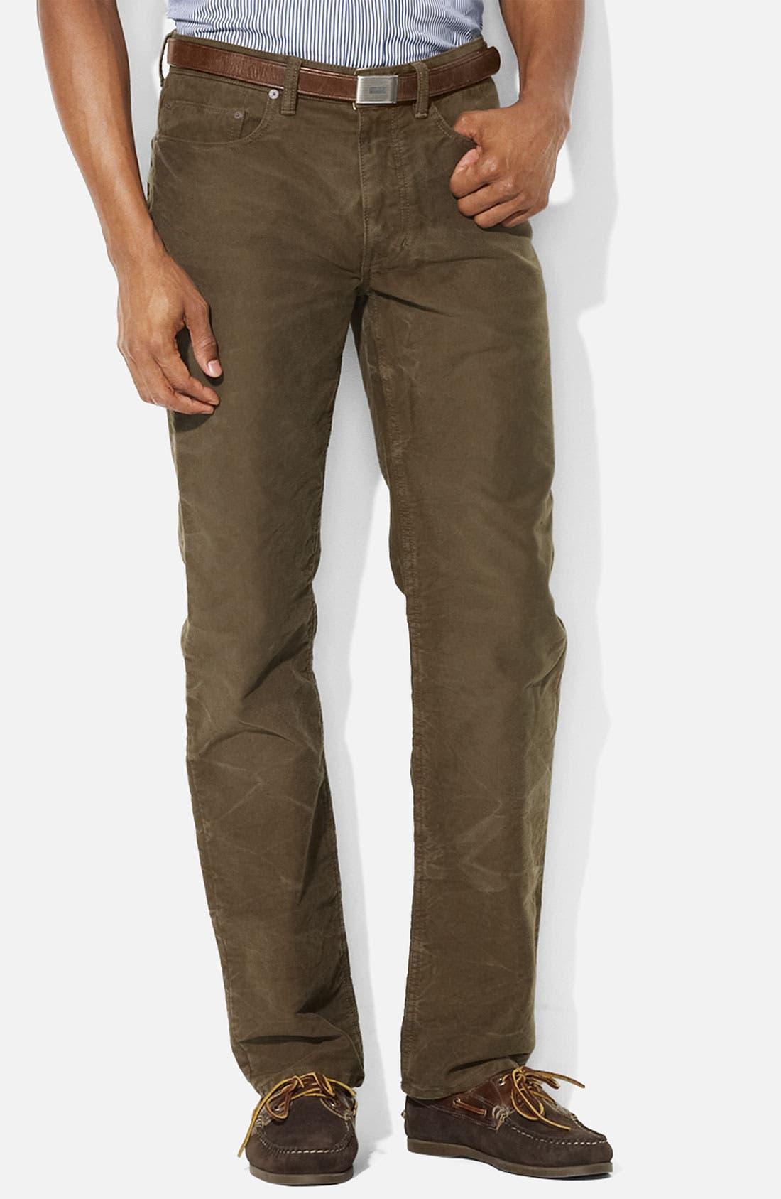 Main Image - Polo Ralph Lauren Straight Leg Moleskin Cotton Pants