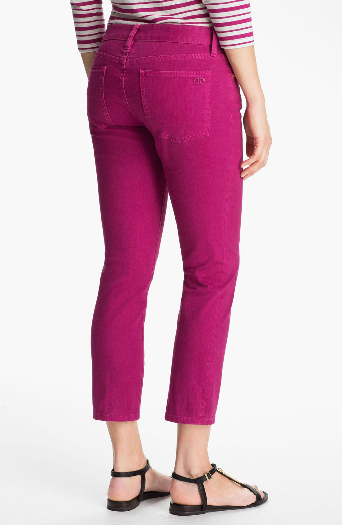 Alternate Image 4  - Tory Burch 'Alexia' Crop Skinny Stretch Jeans