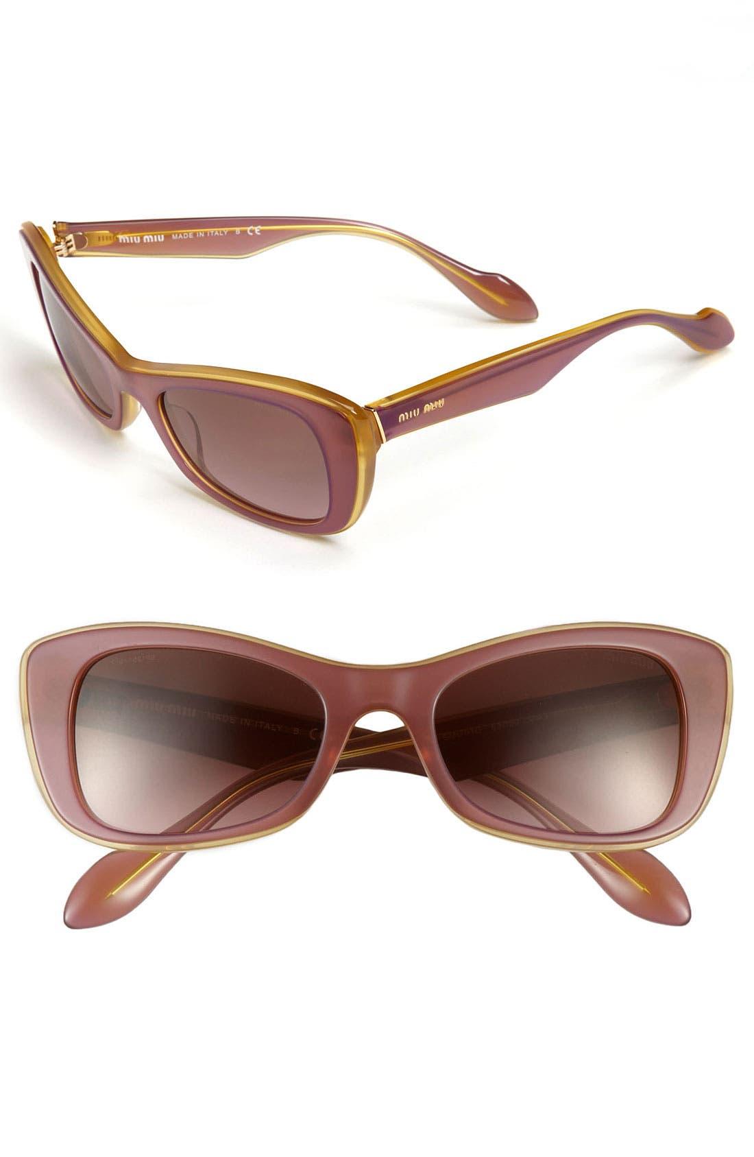 Main Image - Miu Miu Butterfly Sunglasses