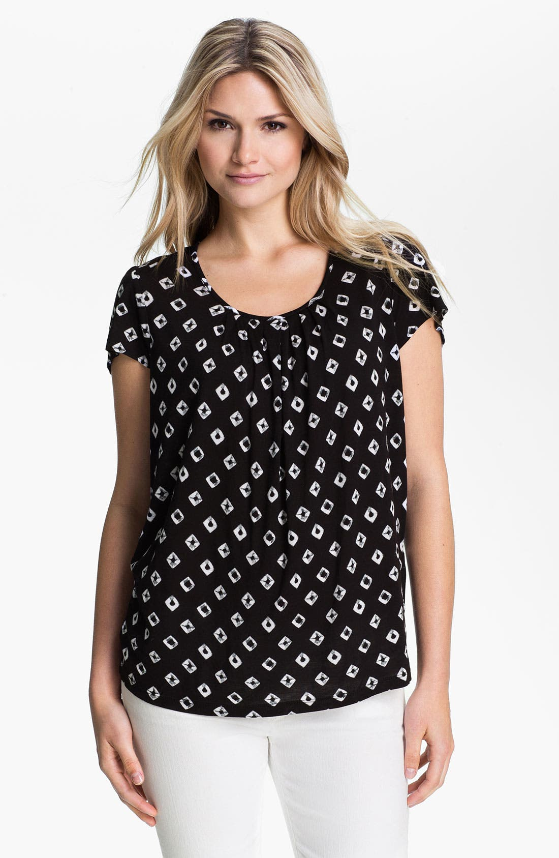 Main Image - MICHAEL Michael Kors 'Diamond' Print Flutter Sleeve Top