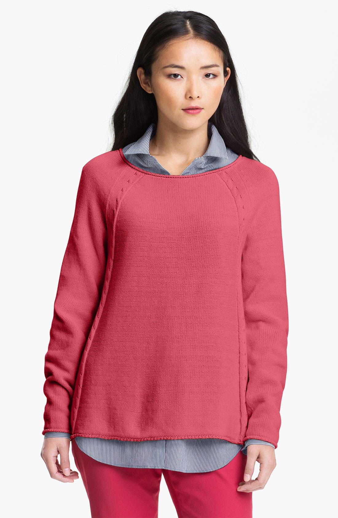Alternate Image 1 Selected - Lafayette 148 New York 'Essential' Scoop Neck Sweater