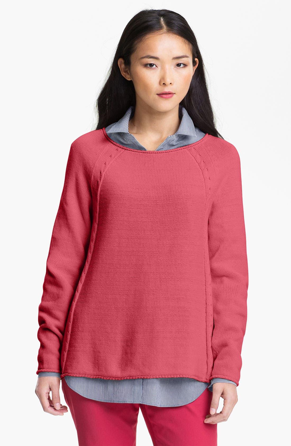 Main Image - Lafayette 148 New York 'Essential' Scoop Neck Sweater