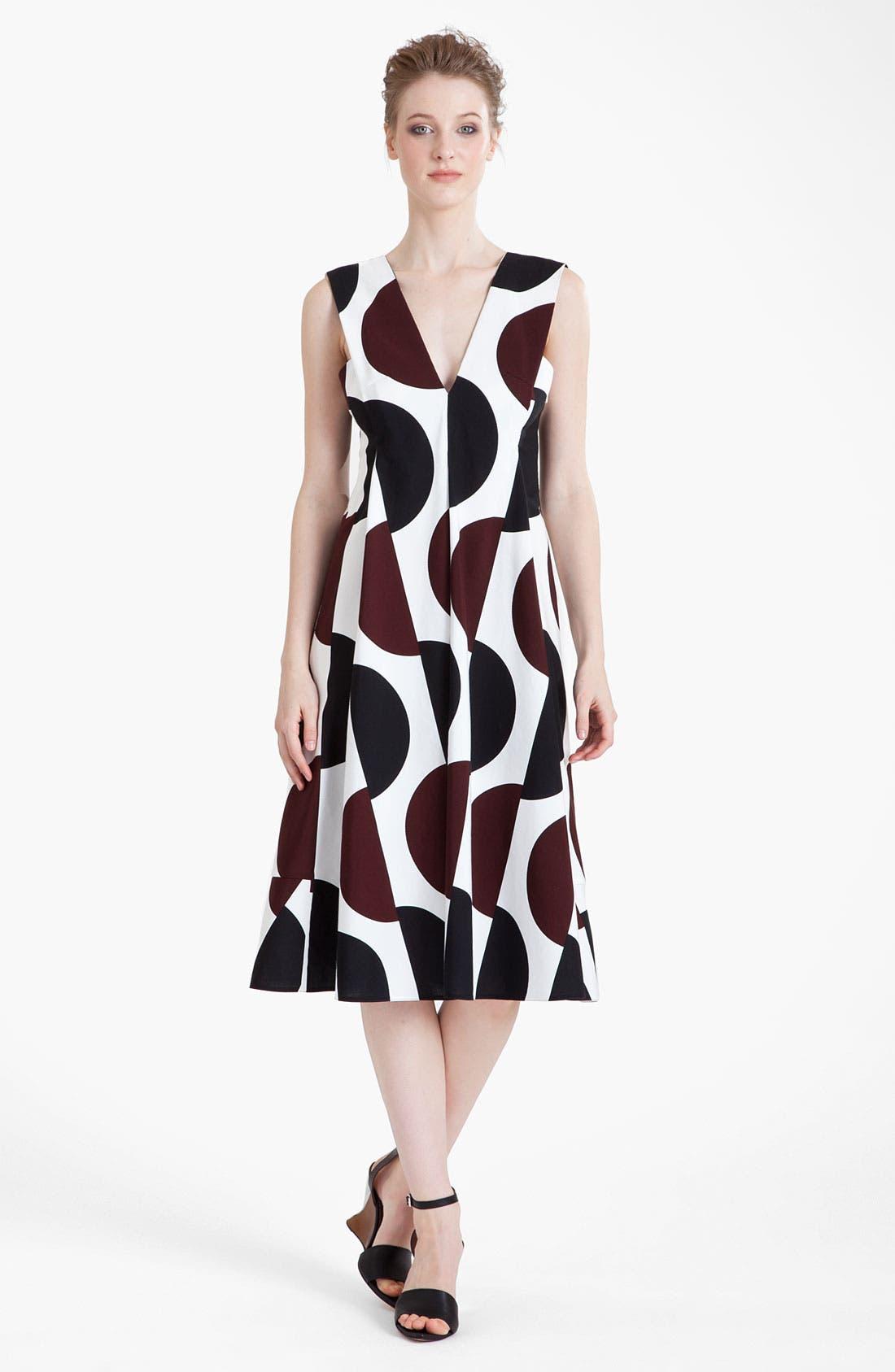 Alternate Image 1 Selected - Marni Large Dot Print Pleated Dress