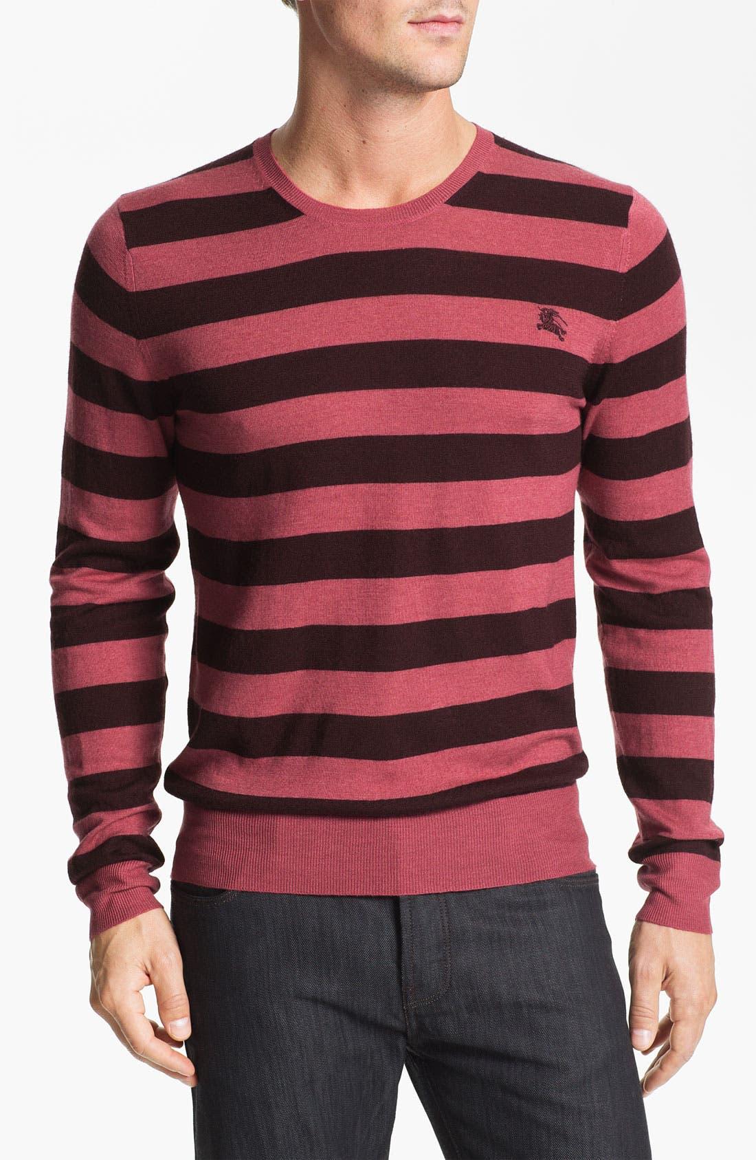 Main Image - Burberry Brit 'Peyton' Lightweight Merino Wool Sweater