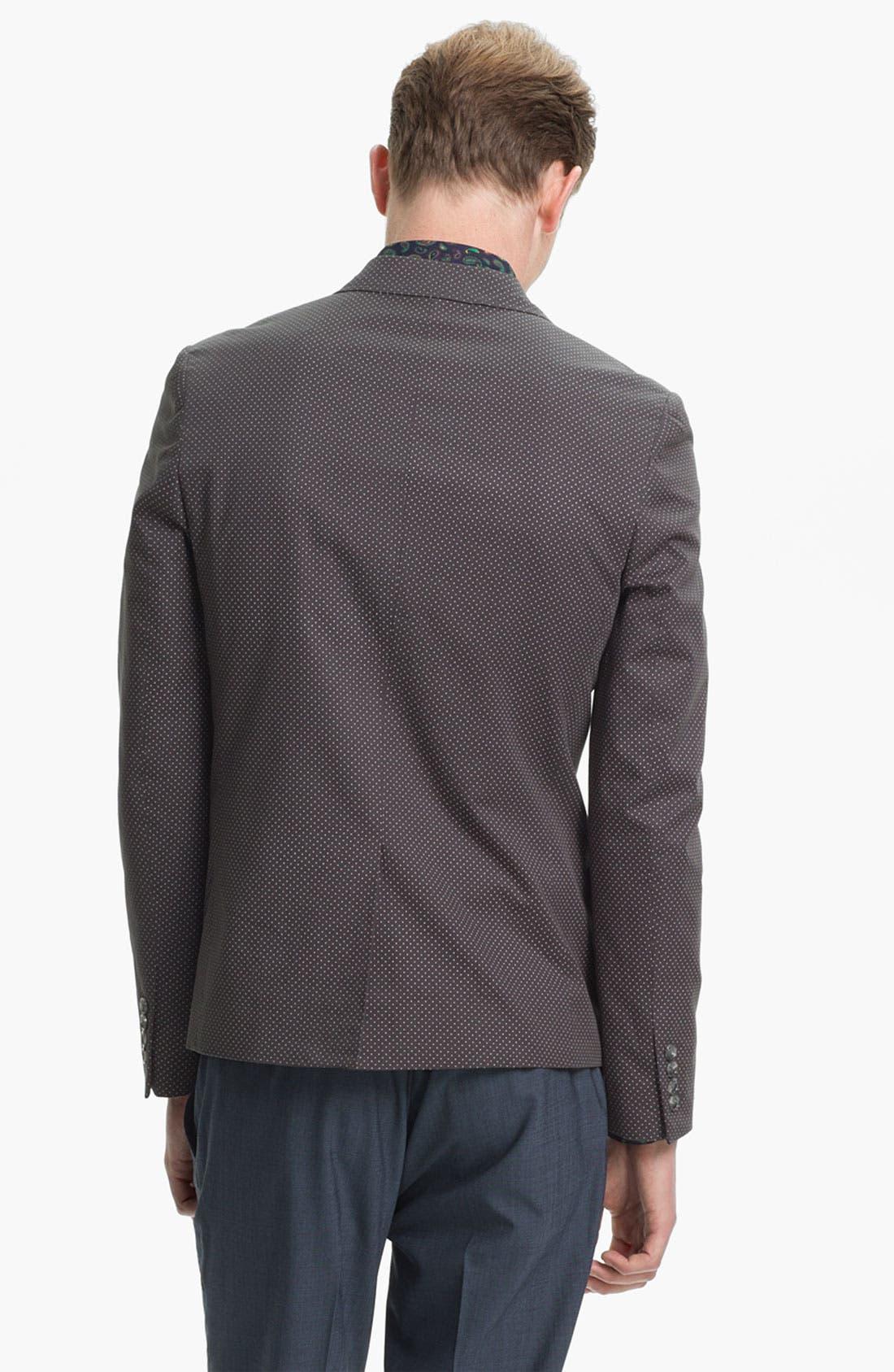 Alternate Image 2  - Topman Pin Dot Skinny Blazer