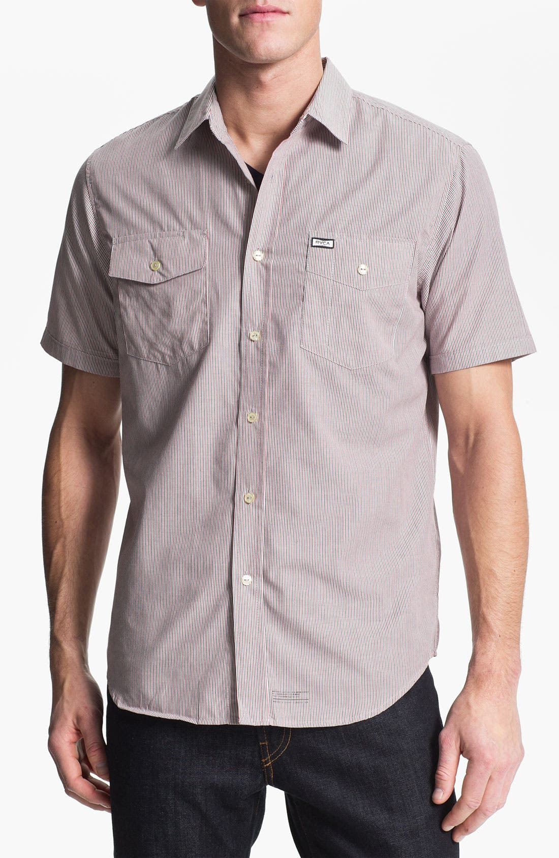 Main Image - RVCA 'Creedance' Stripe Woven Shirt