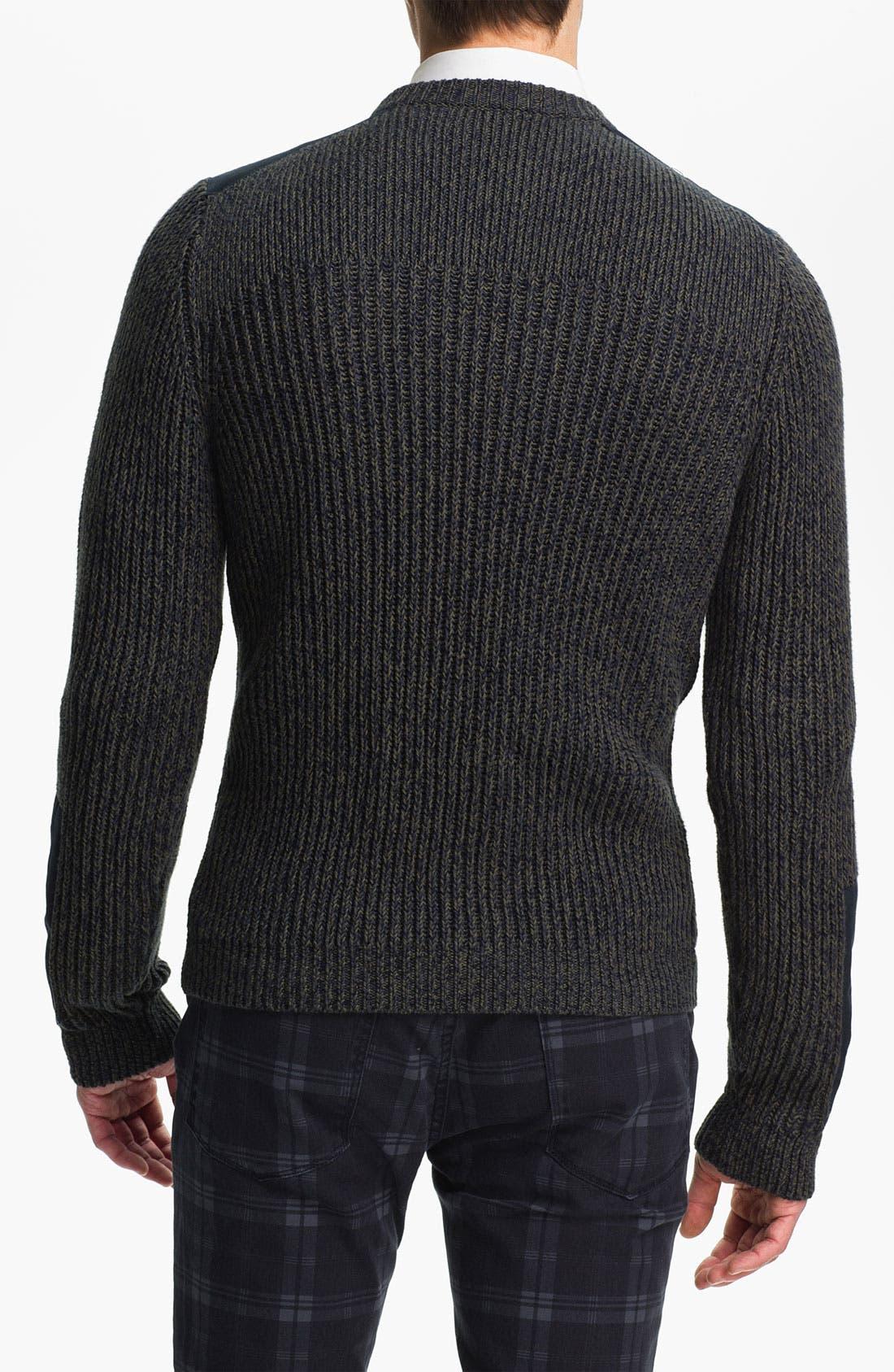Alternate Image 2  - Topman Military Crewneck Sweater