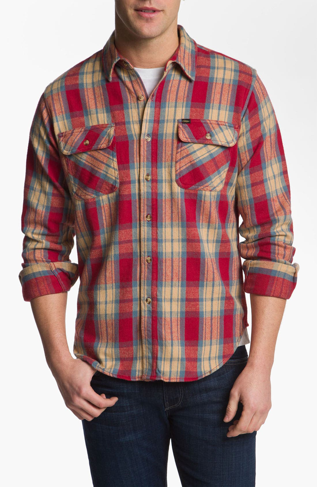 Alternate Image 1 Selected - Obey 'Merrick' Woven Plaid Shirt