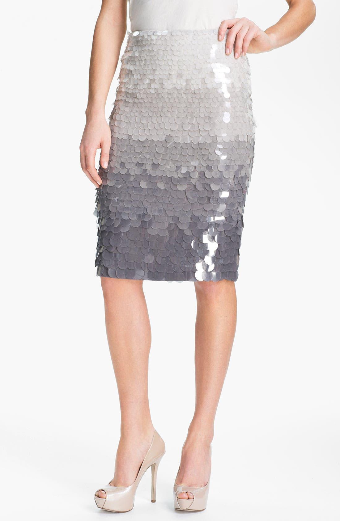 Main Image - Lafayette 148 New York Paillette Silk Skirt