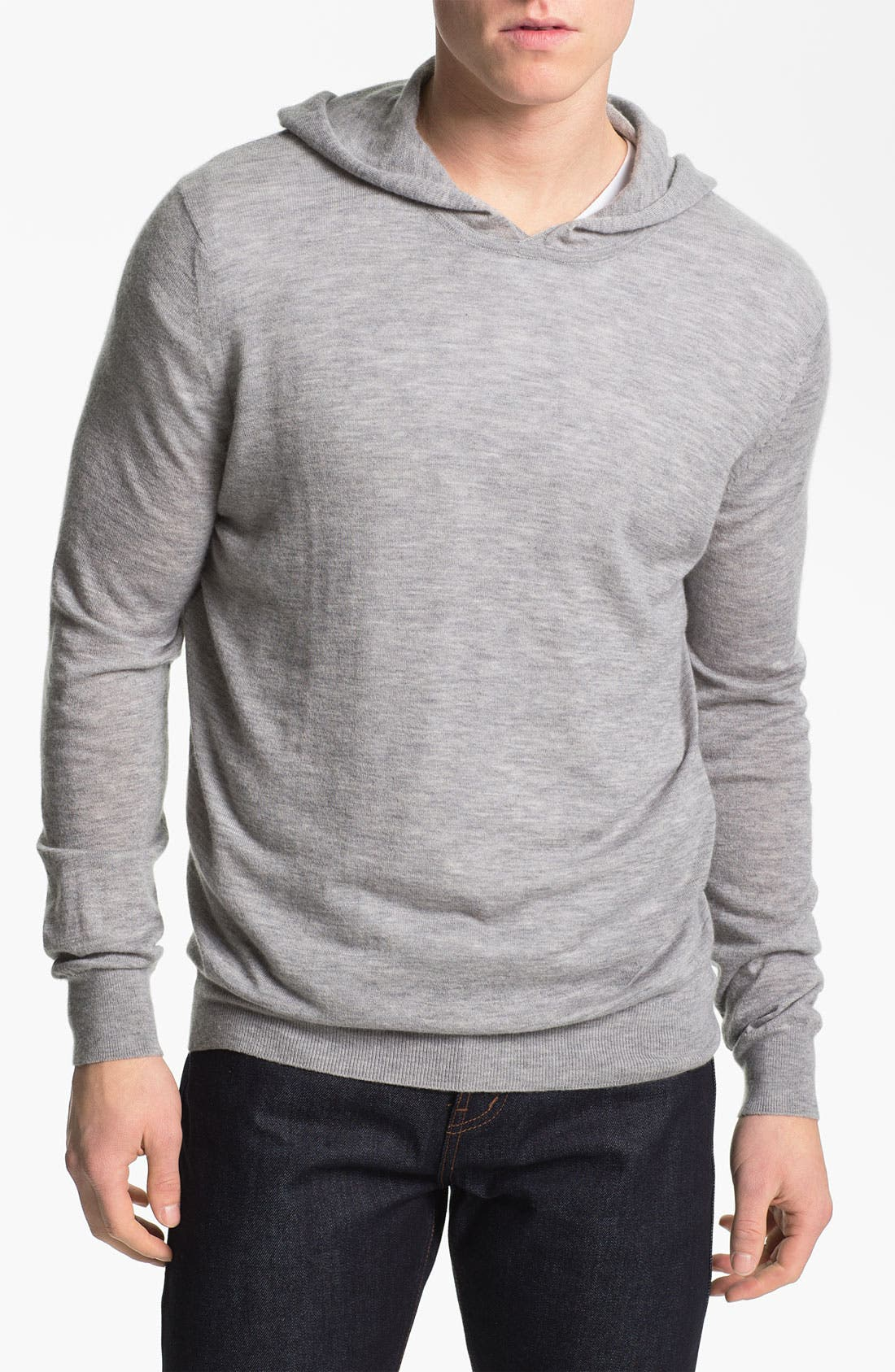 Alternate Image 1 Selected - Vince Double Layer Cashmere Hooded Pullover