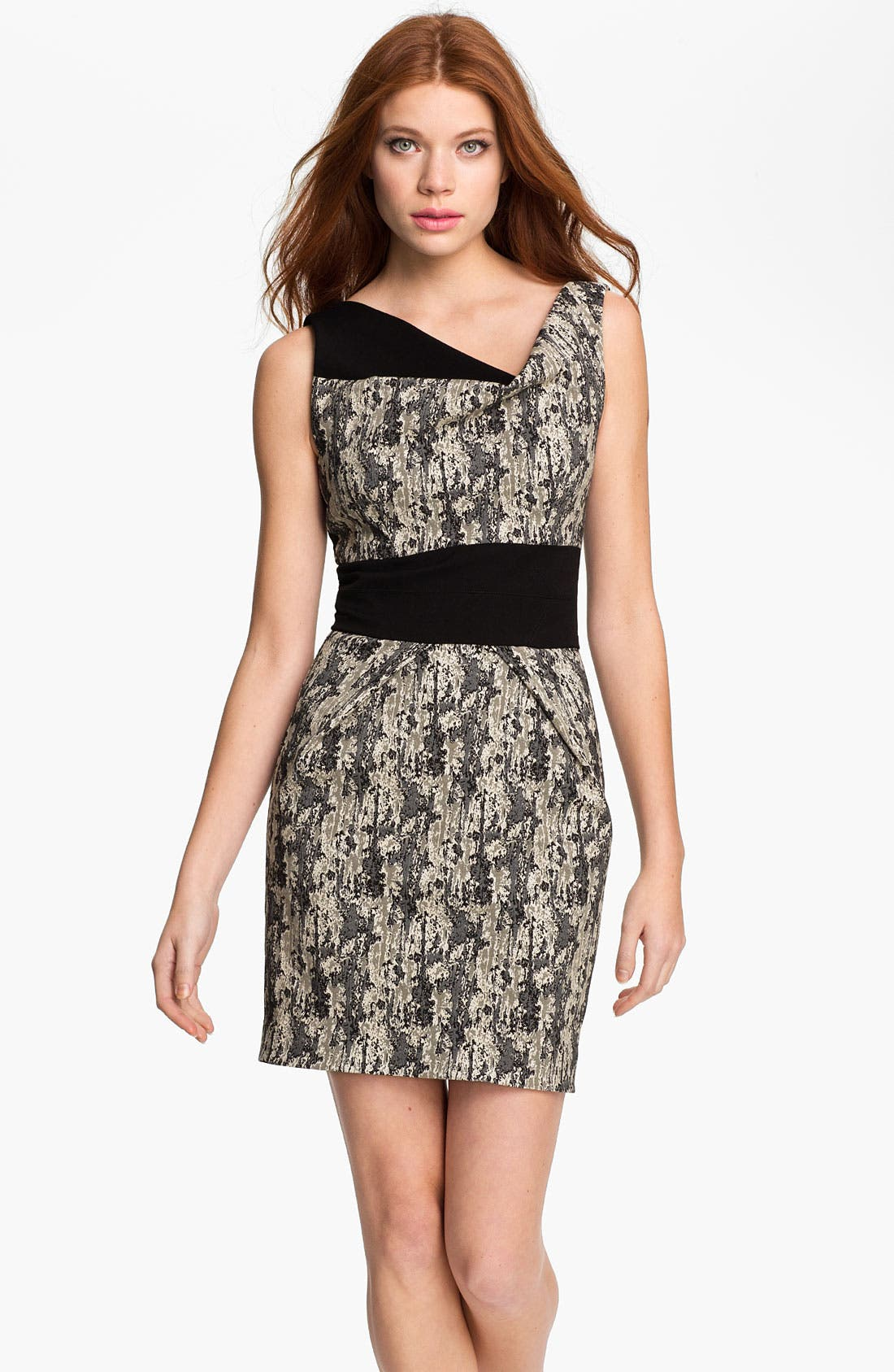Alternate Image 1 Selected - Black Halo 'Faizon' Two Tone Printed Dress
