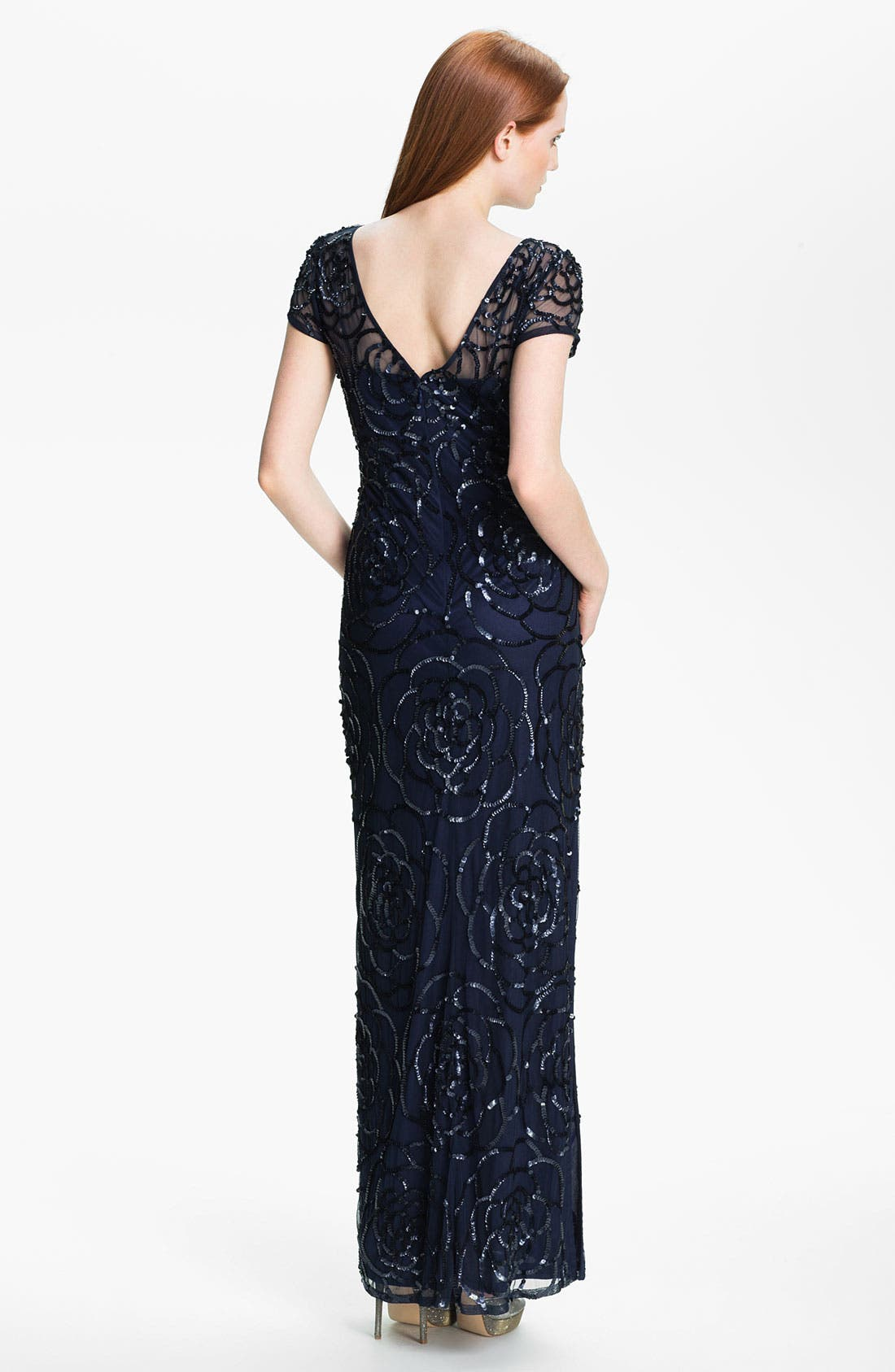 Alternate Image 2  - Aidan Mattox Sequin Mesh Gown