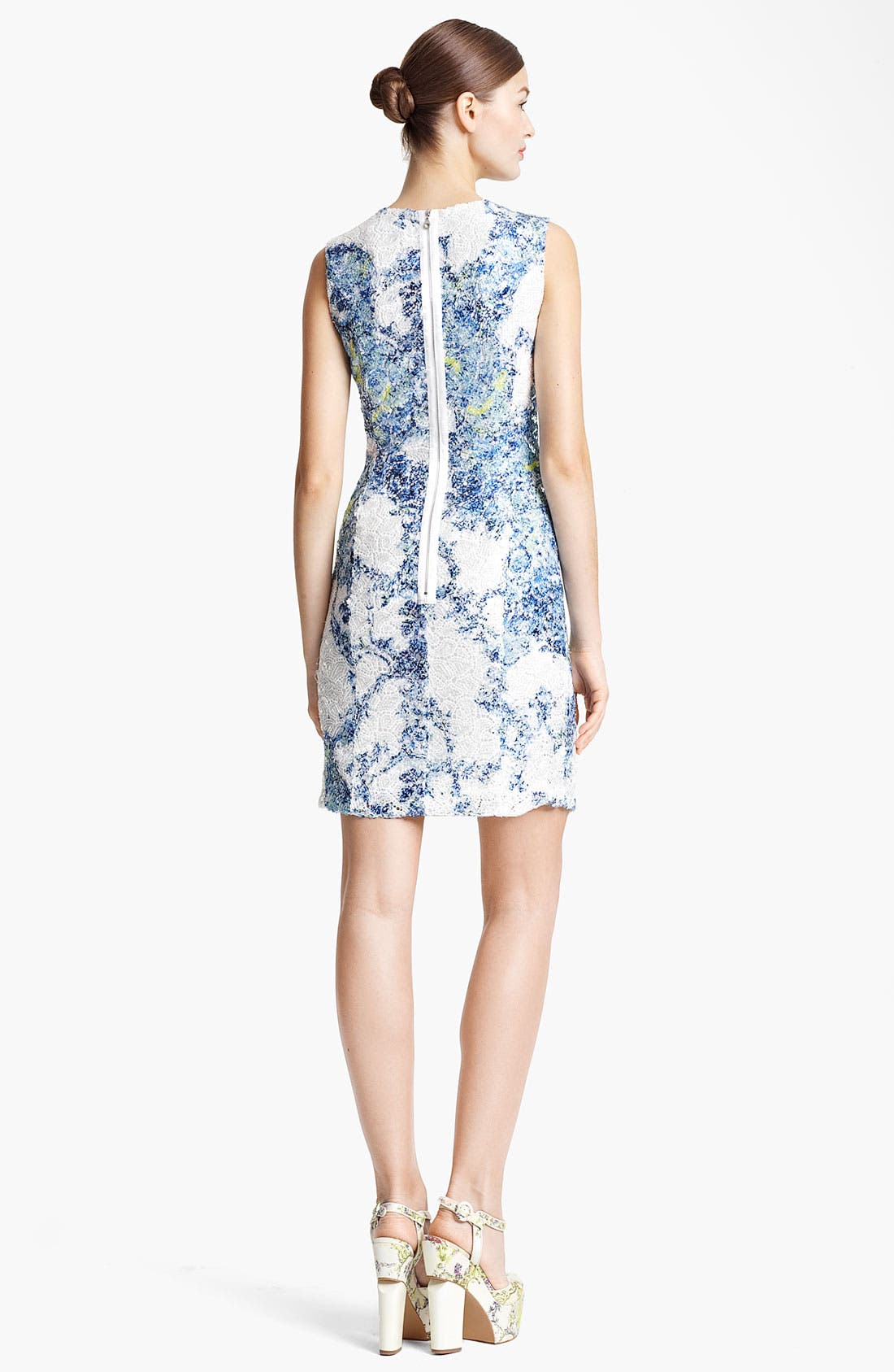 Alternate Image 2  - Erdem Sequin Lace Sheath Dress