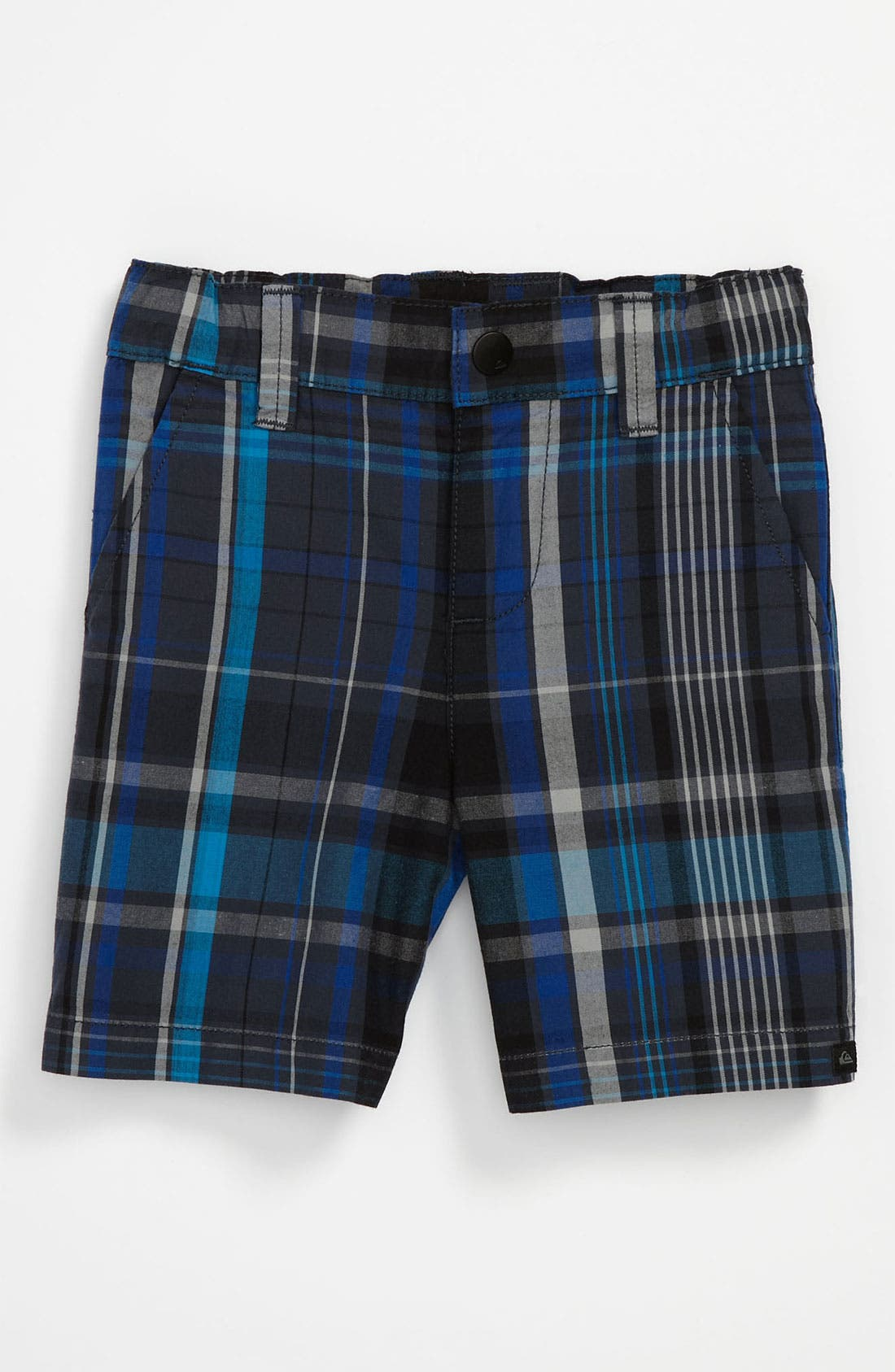 Alternate Image 1 Selected - Quiksilver 'Cordova' Plaid Shorts (Toddler)