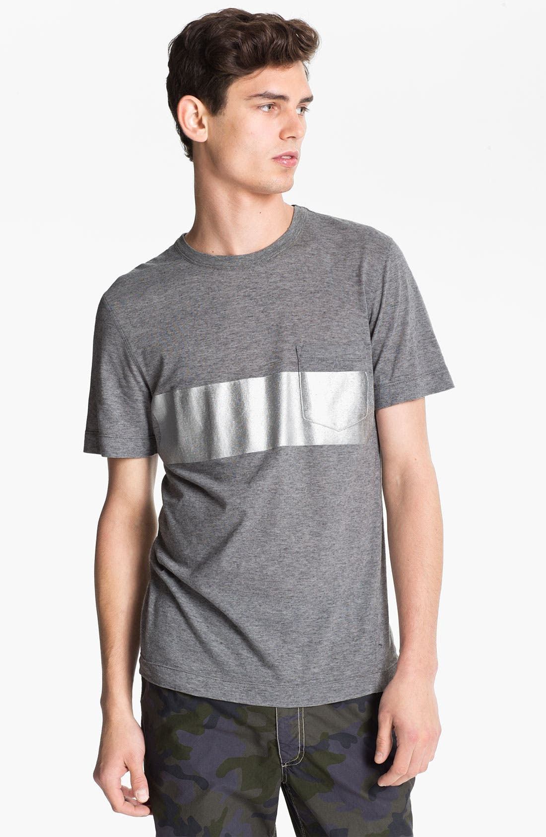 Alternate Image 1 Selected - U Clothing 'Beau' Chest Stripe Pocket T-Shirt