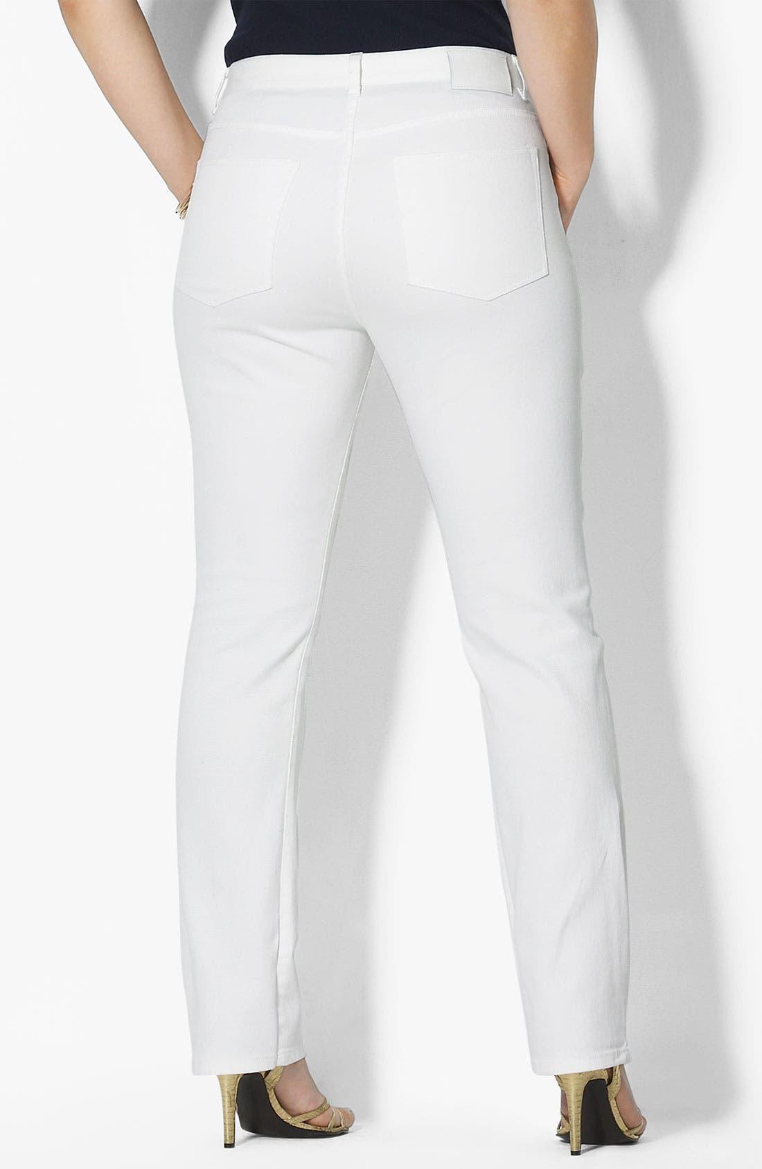 Alternate Image 2  - Lauren Ralph Lauren Straight Leg Jeans (Plus)