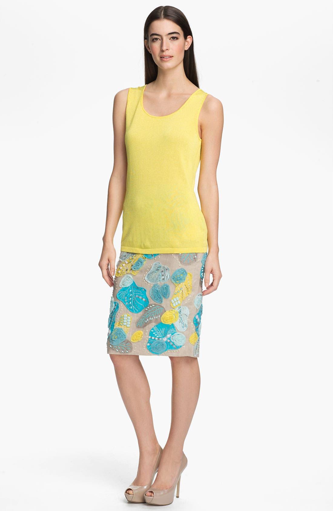 Alternate Image 4  - Lafayette 148 New York Embellished Linen Skirt